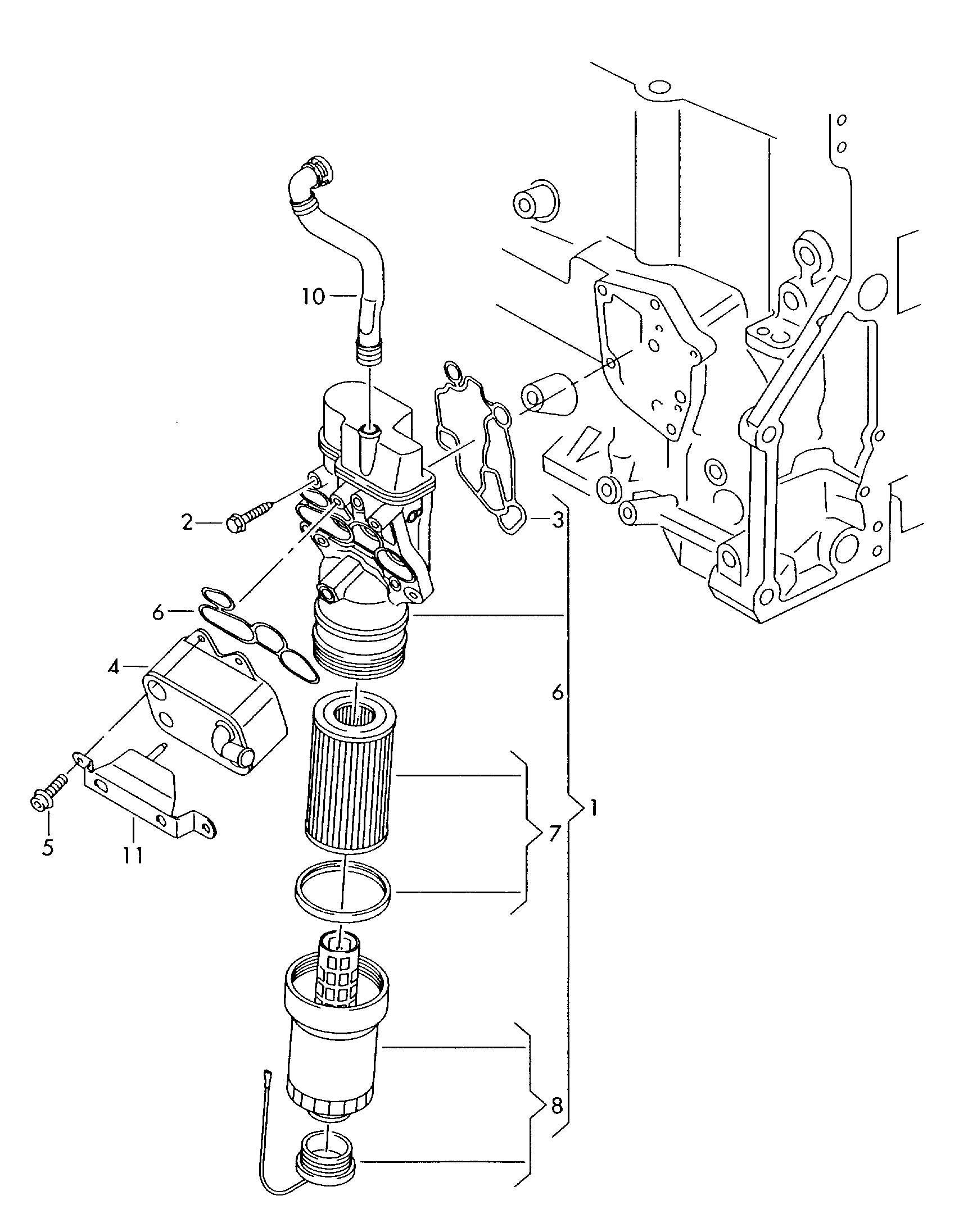 Vw Passat Engine Parts Diagram Vwvortex B6 Oil Leak Behind Oil Filter Housing Of Vw Passat Engine Parts Diagram