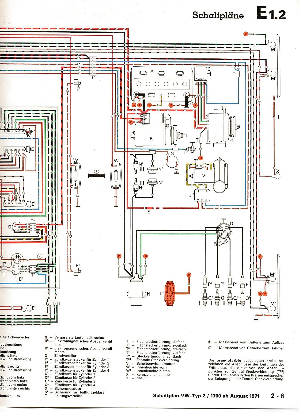 Colored Wiring Diagram Vw Type 3 Portal 1969 Bus Harness 1 Engine In Color 1964 Bug Beetle Rh Detoxicrecenze Com 1973