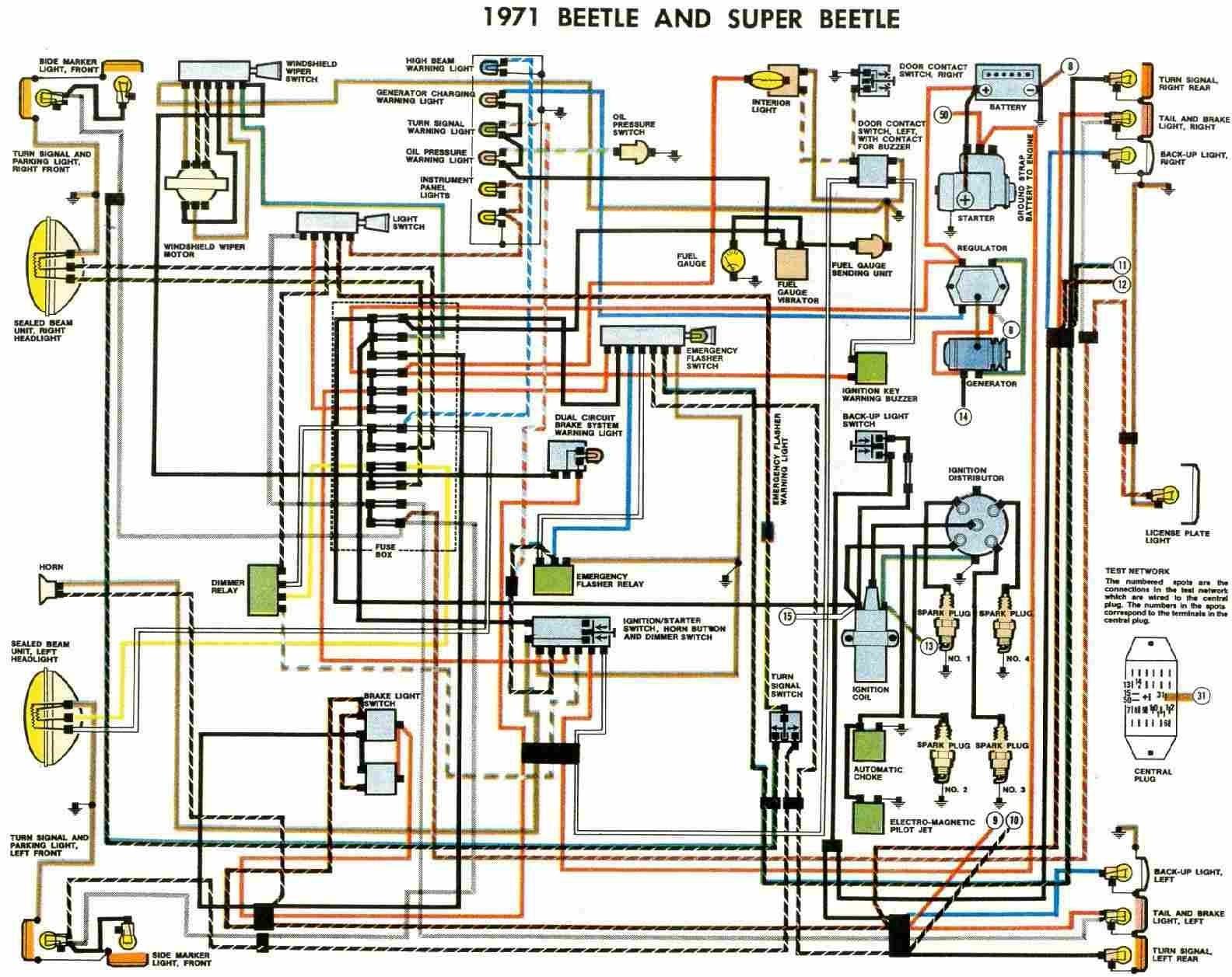 Vw Type 1 Engine Diagram Free Auto Wiring Diagram 1971 Vw Beetle and Super Beetle Of Vw Type 1 Engine Diagram