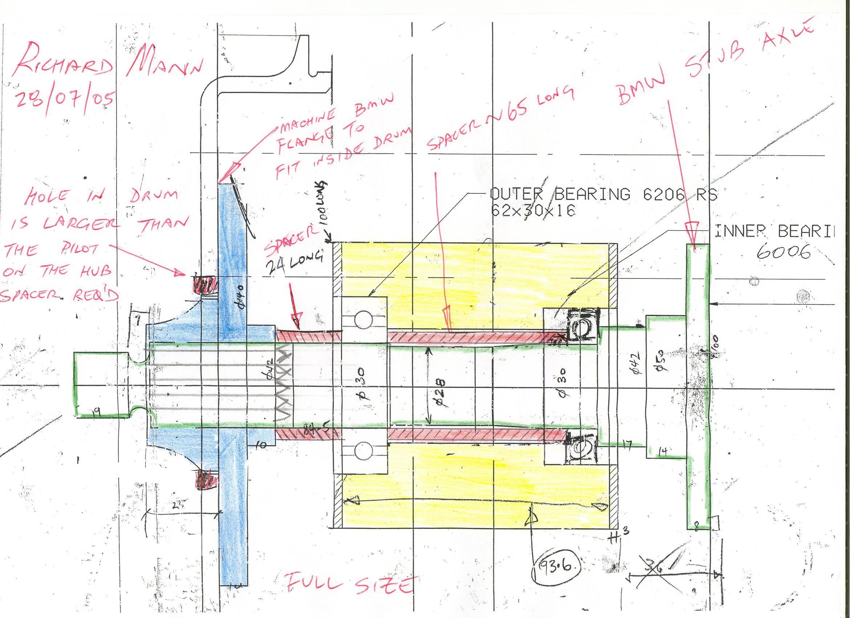 Wheel Bearing assembly Diagram Stub Axle Conversion Of Wheel Bearing assembly Diagram