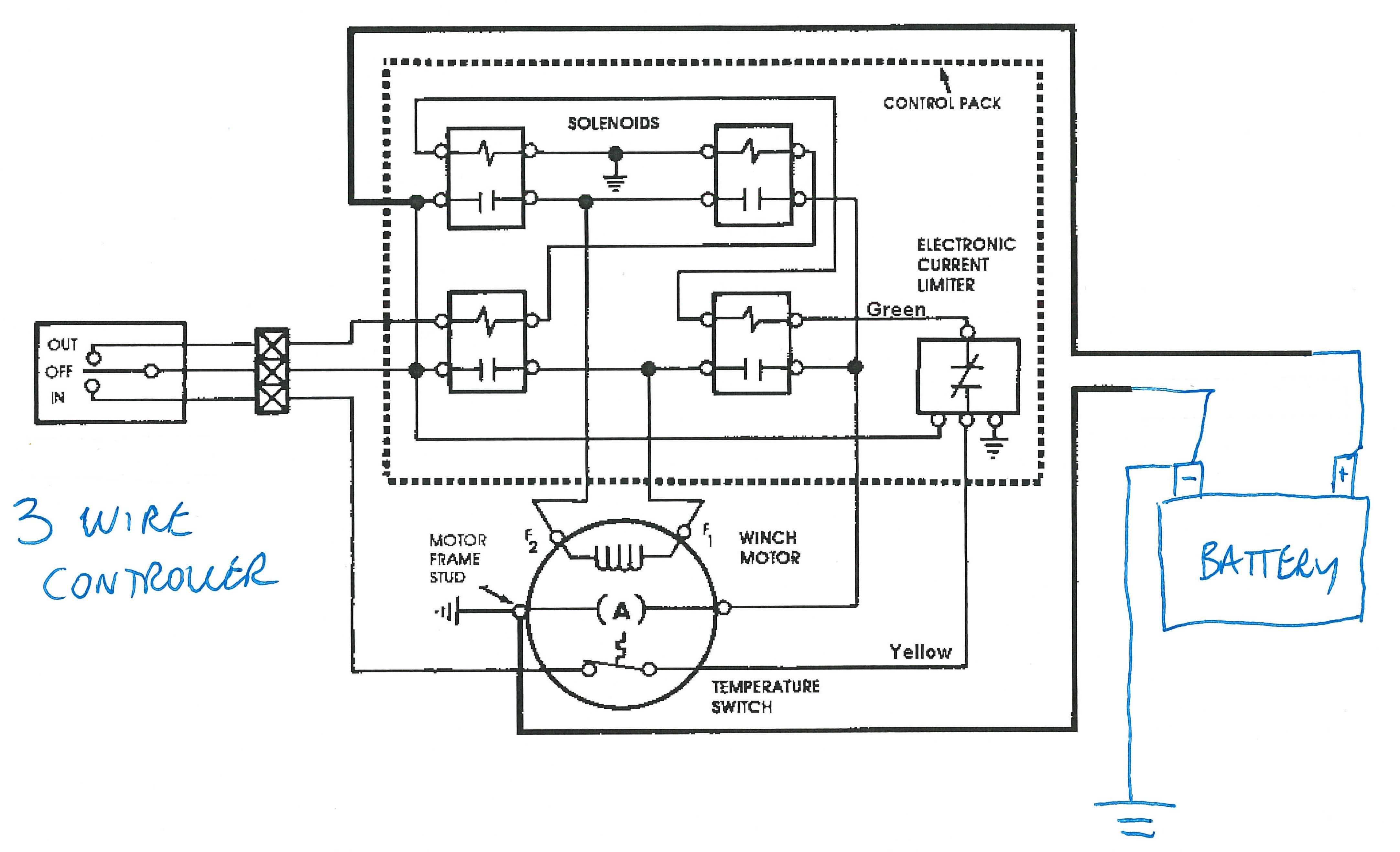 Winch Contactor Wiring Diagram Reversing Motor Remote Controller And For Coralhome Related Post