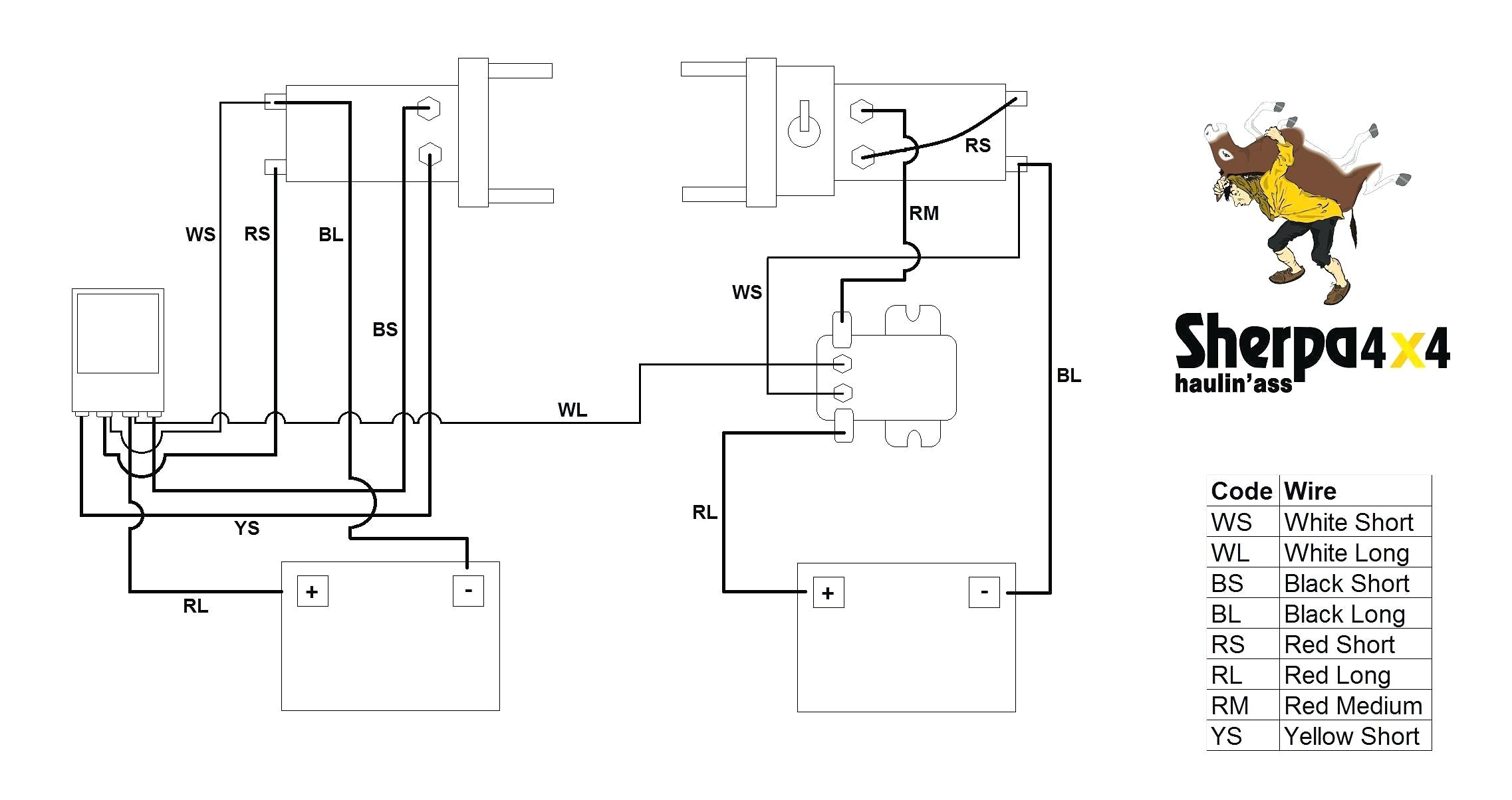 winch contactor wiring diagram luxury solenoid wiring