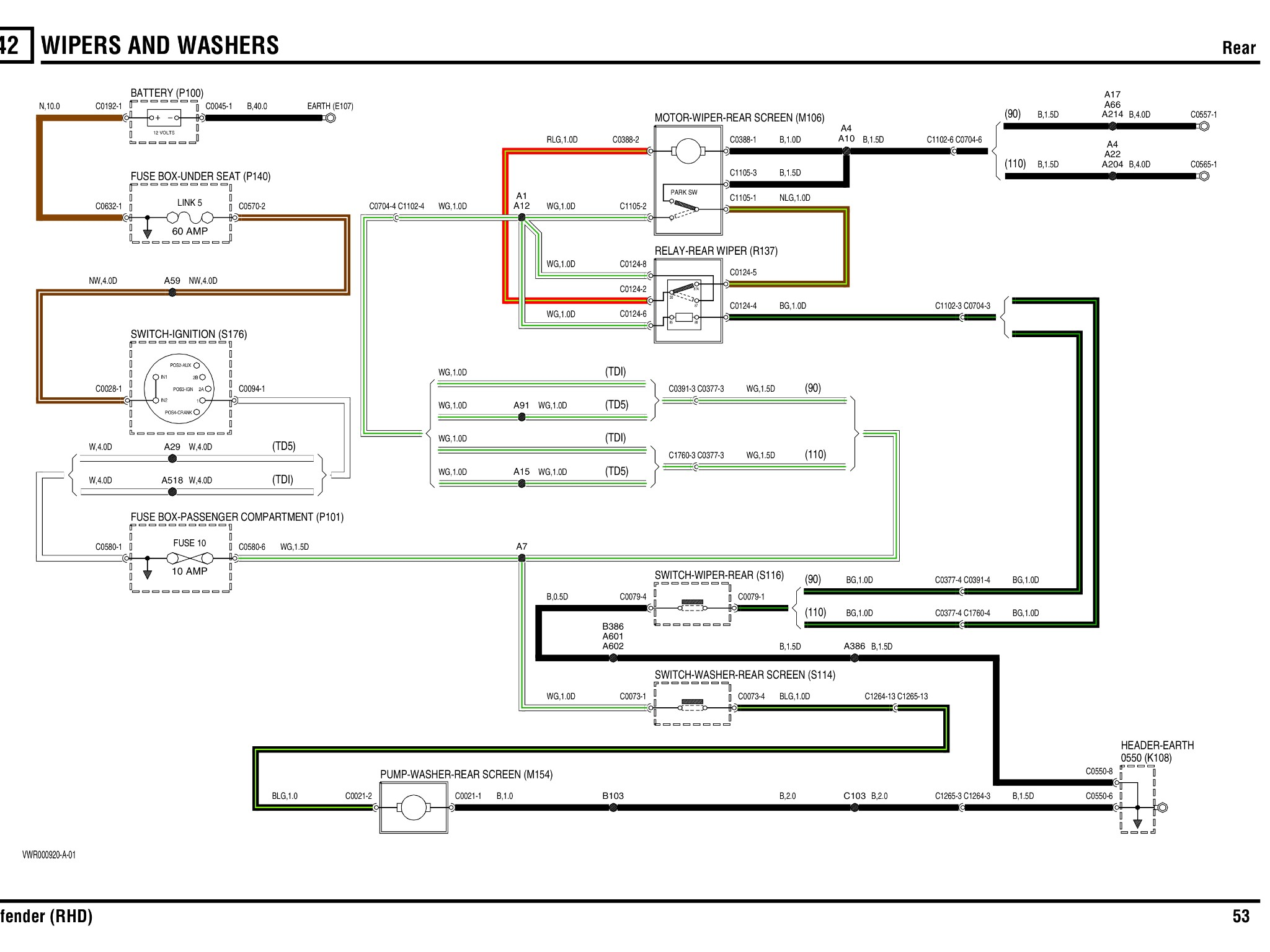 Wiper Motor Diagram Td5 Rear Wiper Wiring Help Please Defender forum Lr4x4 the Of Wiper Motor Diagram