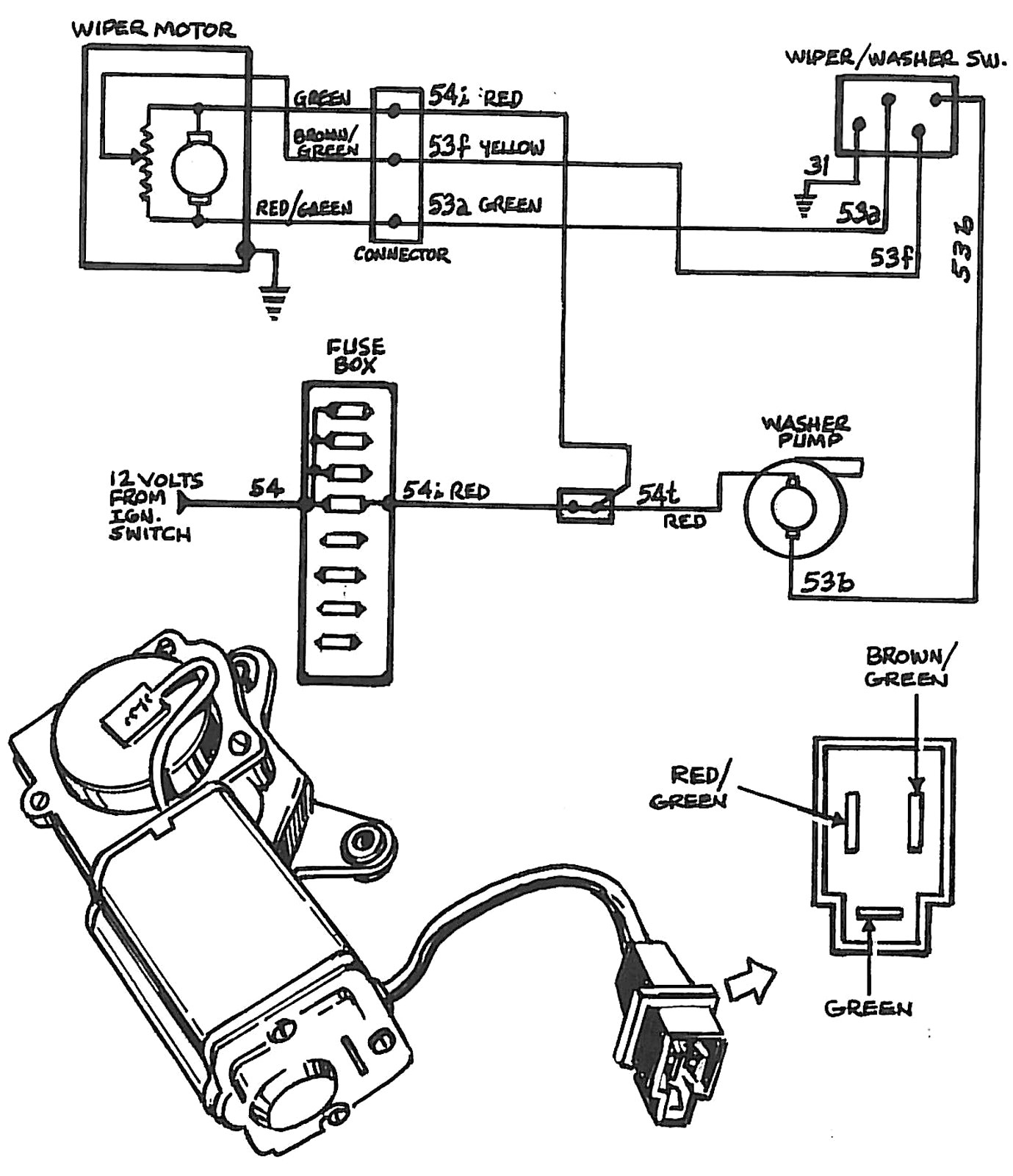 Wiper Motor Diagram Windshield Wiper Motor Wiring Diagram Fitfathers Me Inside Blurts Of Wiper Motor Diagram