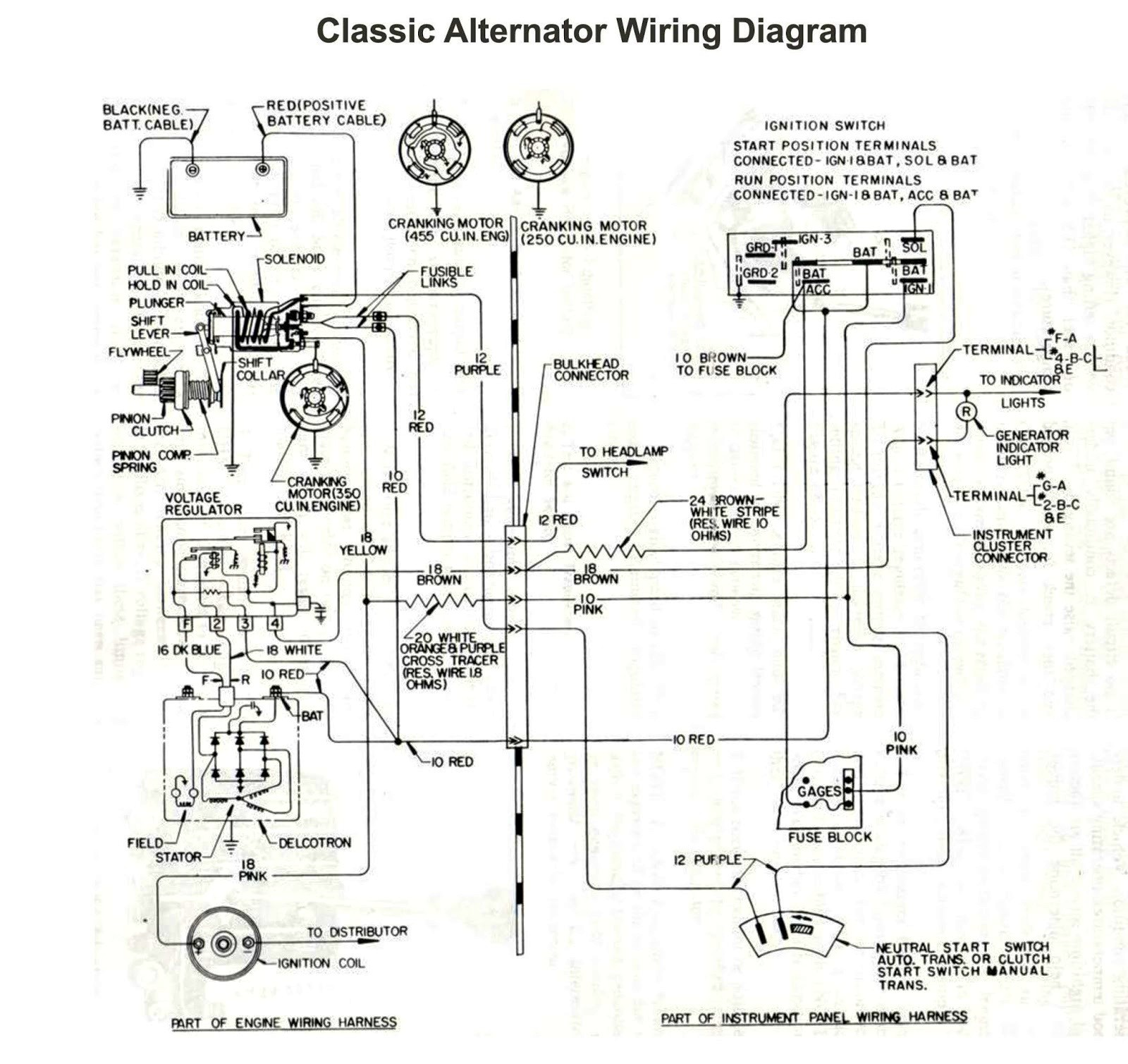 Wiring Diagram for Car Alternator Ponent Car Alternator Schematic ford Mustang July Electrical Of Wiring Diagram for Car Alternator