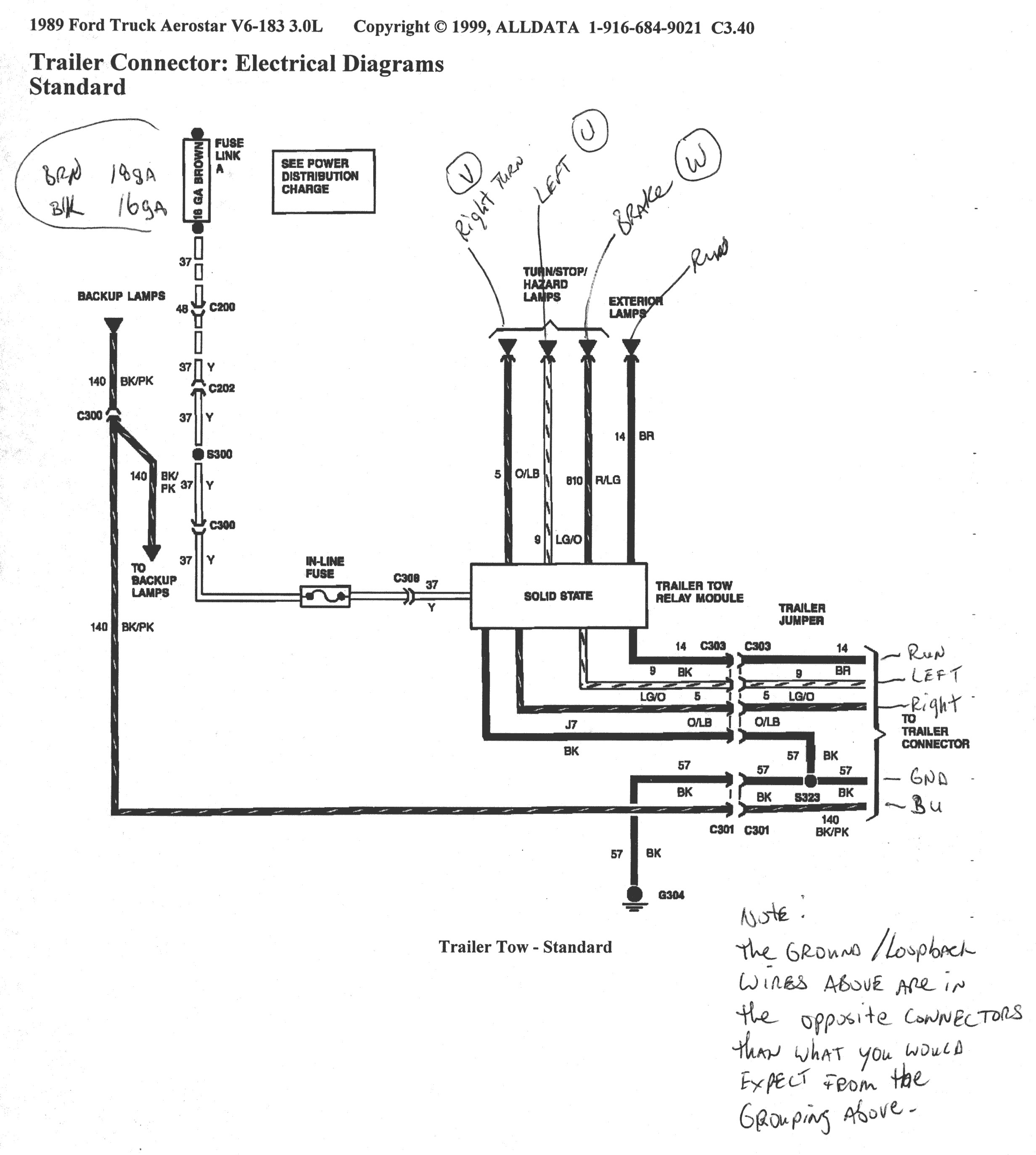 Wiring Diagram for ford F150 Trailer Lights From Truck ford Truck