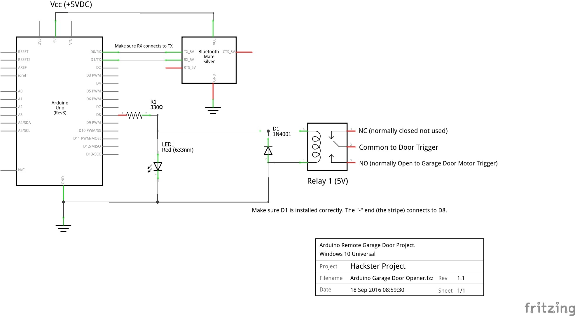 liftmaster remote schematic