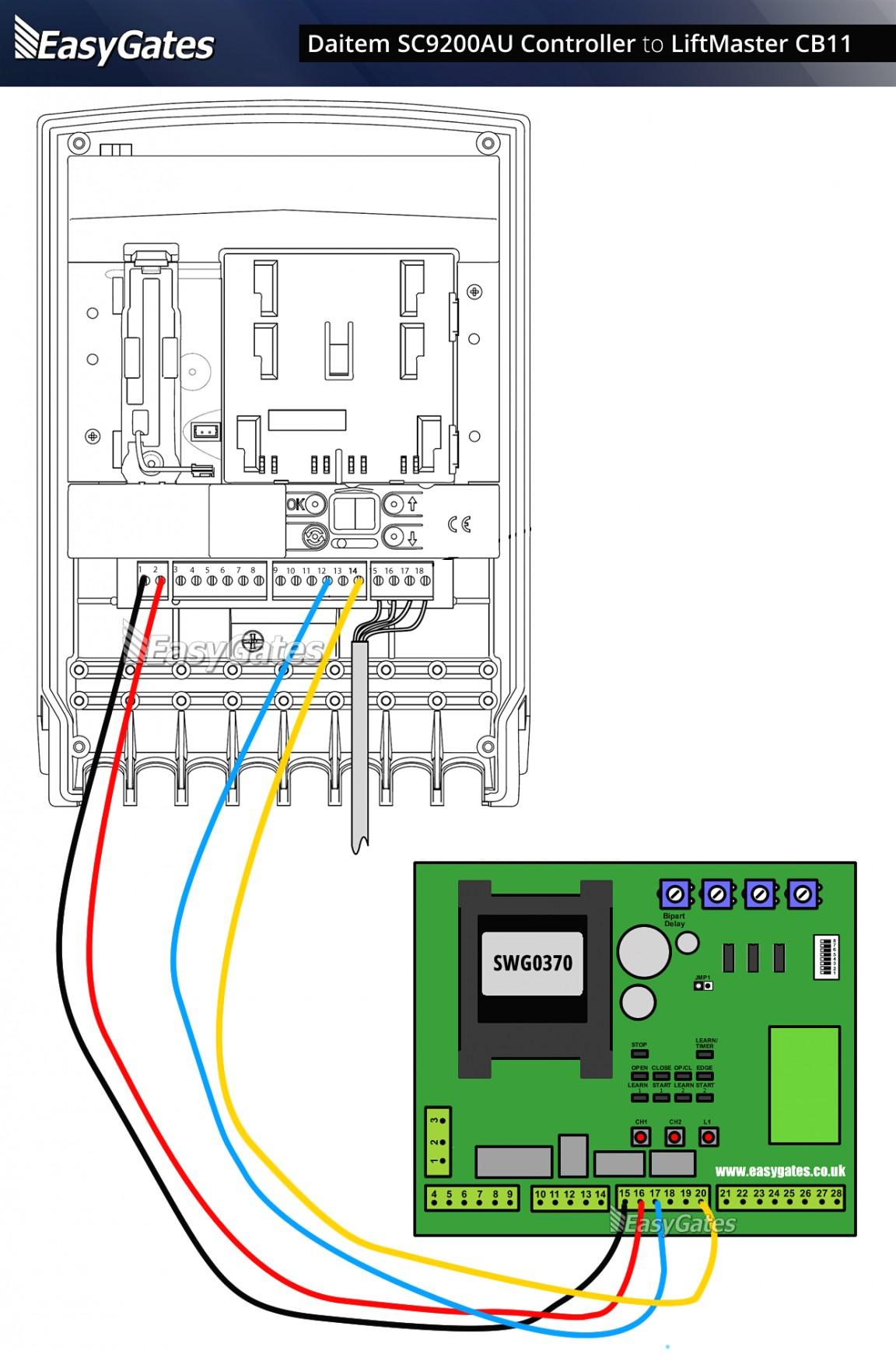 gate garage door opener wire diagram enthusiast wiring diagrams u2022 rh rasalibre co Homeline Load Center Wiring-Diagram Genie Garage Door Sensor Wiring Diagram