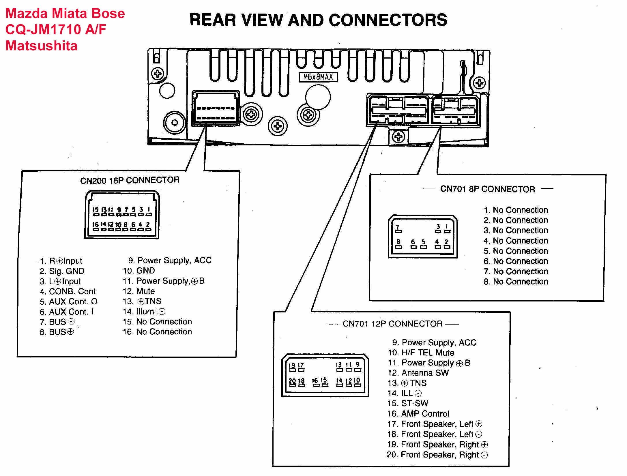 Car With Detaleted Wiring And Factory Stereo Diagrams WIRING DIAGRAM
