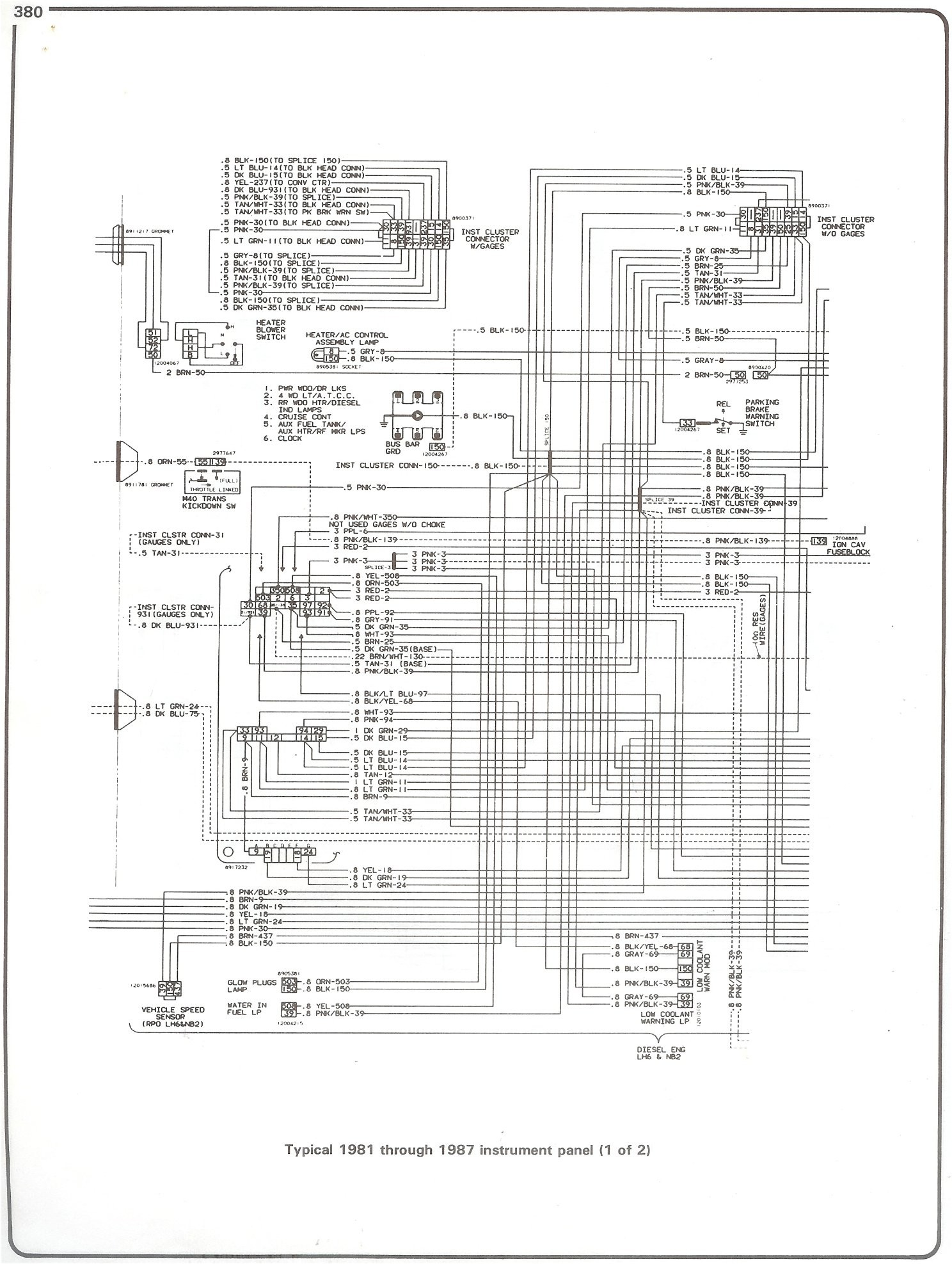 1997 Chevrolet Blazer Wiring Diagram Detailed Schematics 2000 Chevy Trailblazer 1984 Alternator 1977