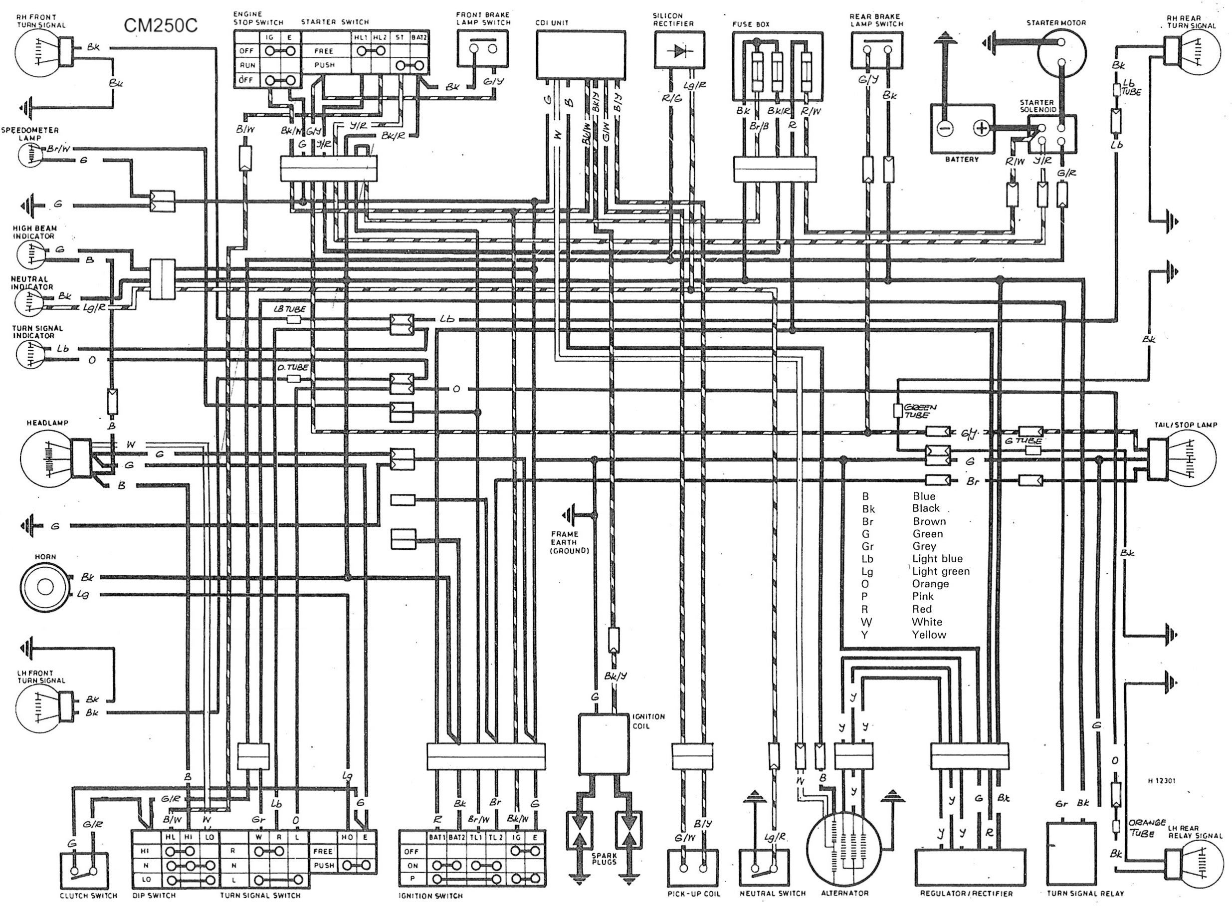 Honda Cb 250 Wiring Diagram Honda C90 Wiring Diagram - Printable ...