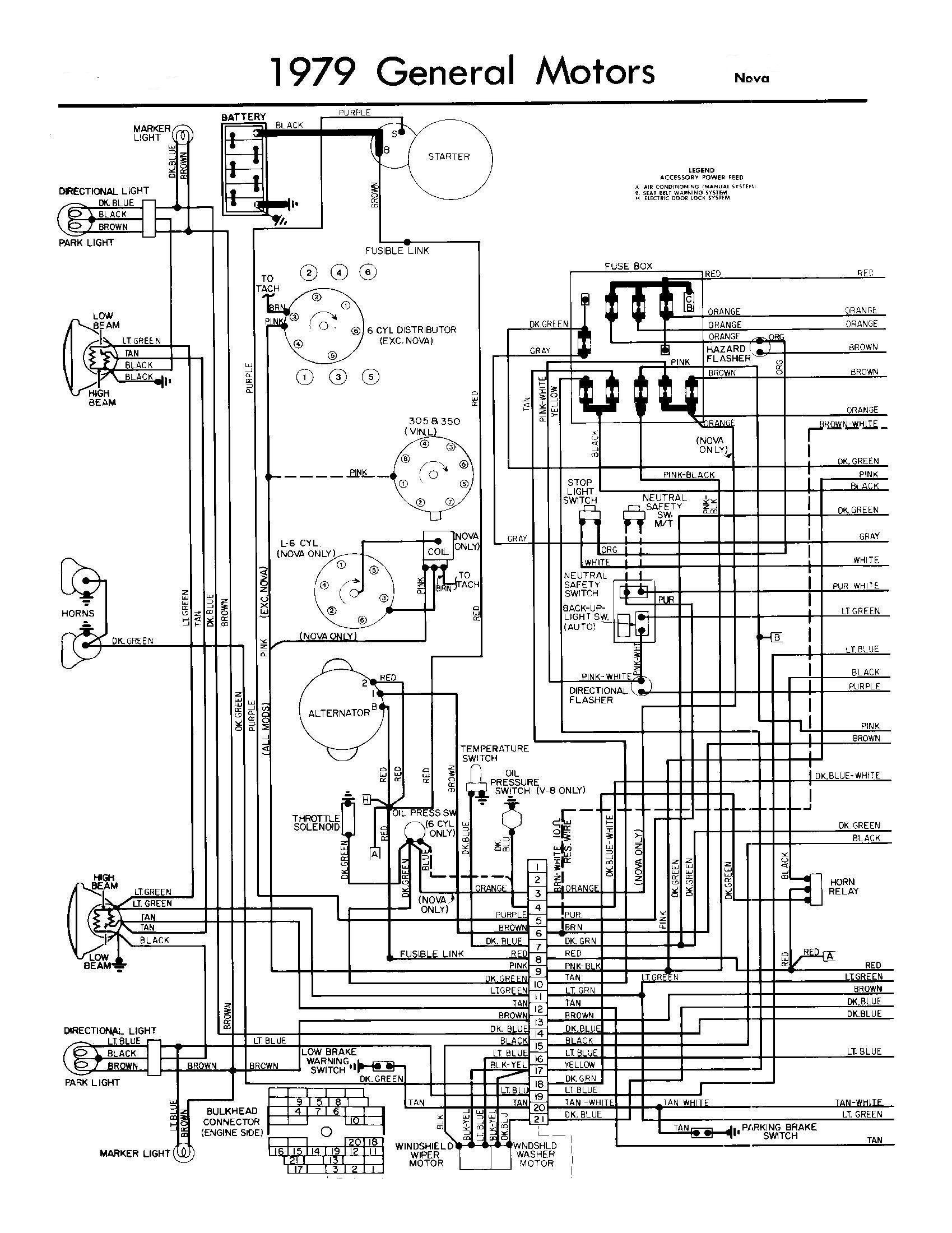 Rear Lighting Schematic Diagram G Models For 1979 Gmc Light Duty ...