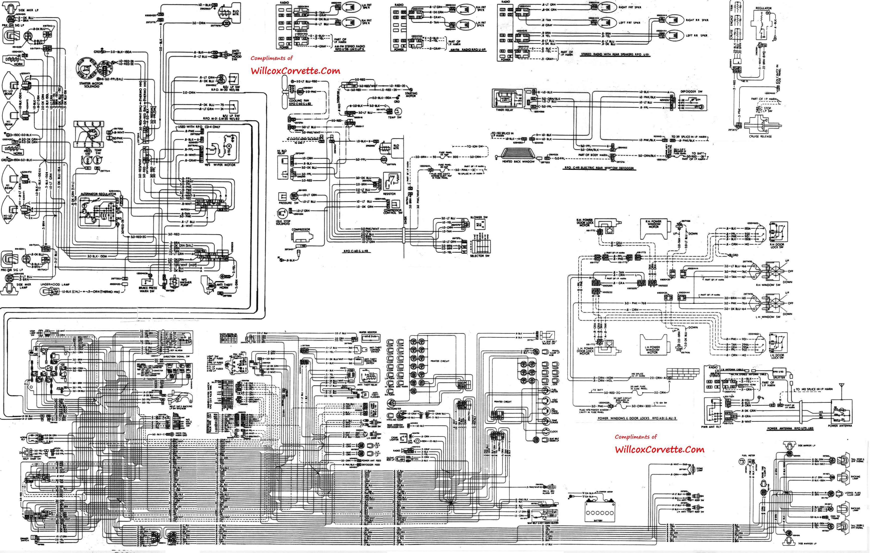 1982 Chevy Truck Wiring Diagram Corvette Wiring Diagram Wiring Diagram Of 1982 Chevy Truck Wiring Diagram