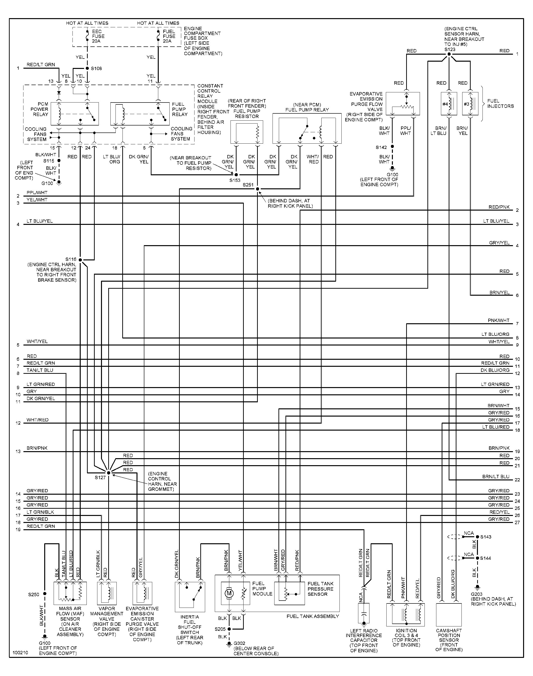 1997 Mustang Wiring Diagram