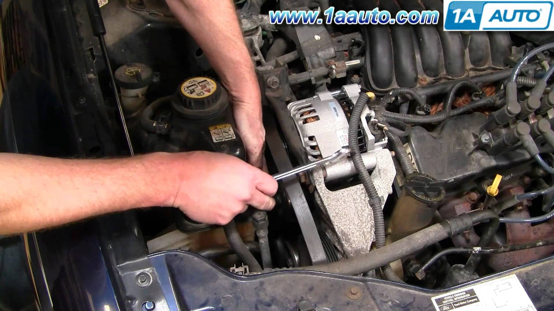 1999 Mercury Cougar Engine Diagram How to Install Replace Serpentine Belt  Idler Pulley ford Taurus 3
