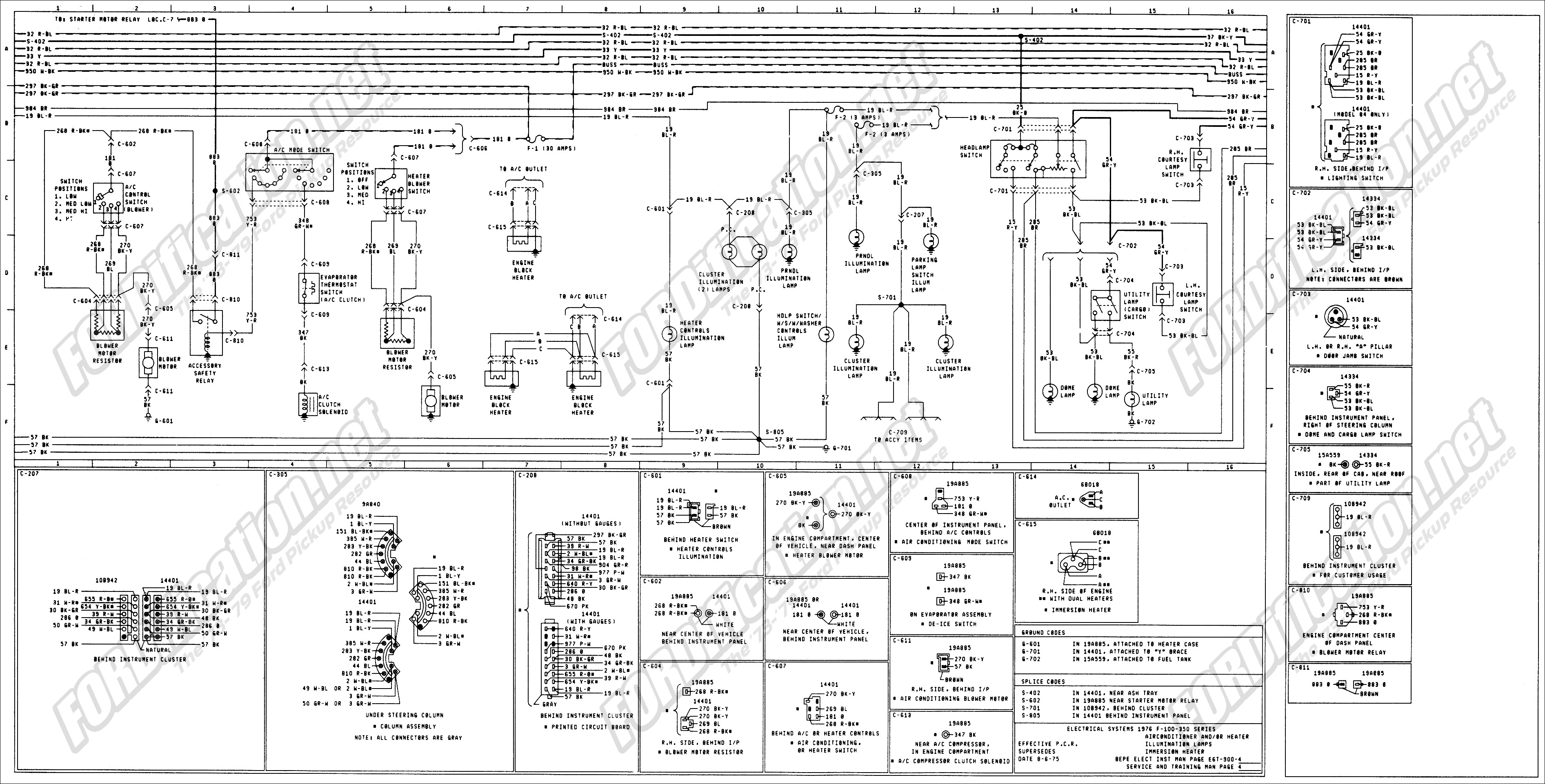 2000 Ford F150 Wiring Diagram Contour Radio 1973 1979 Truck Diagrams Schematics Fordification Of