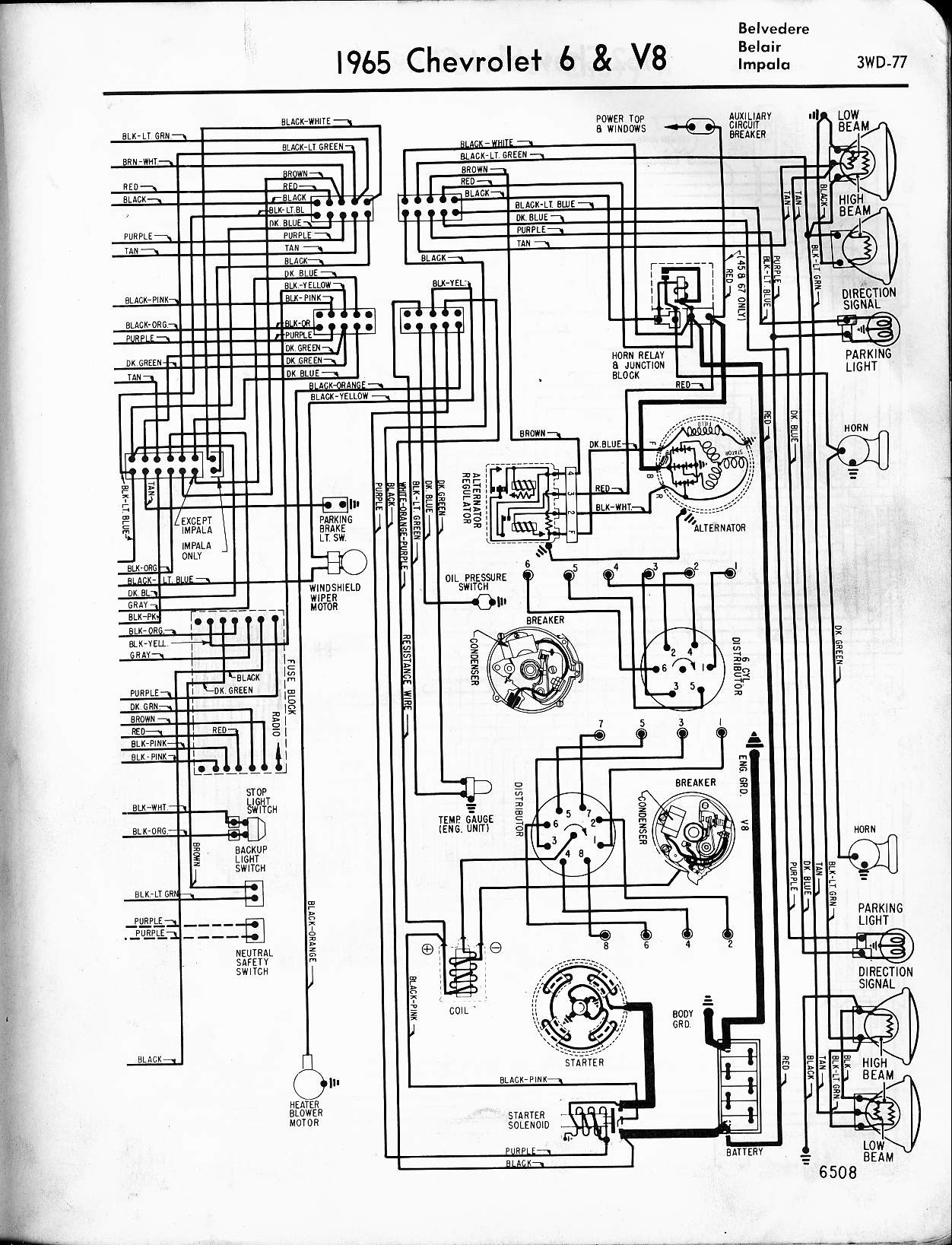 1966 Impala Wiring Schematic - Service Repair Manual on