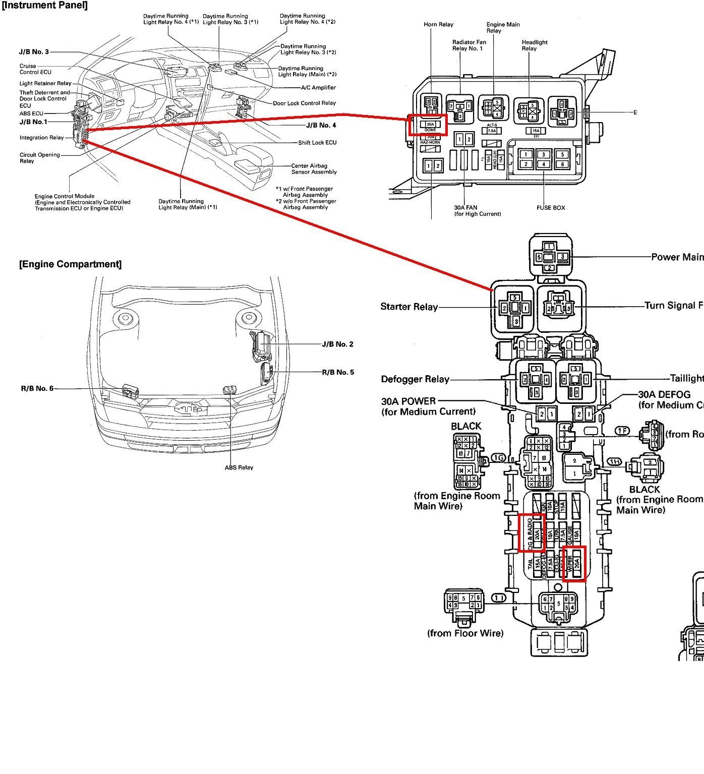 2000 Toyota Avalon Engine Diagram Supra 2001 Fuse Box Wiring Library Of