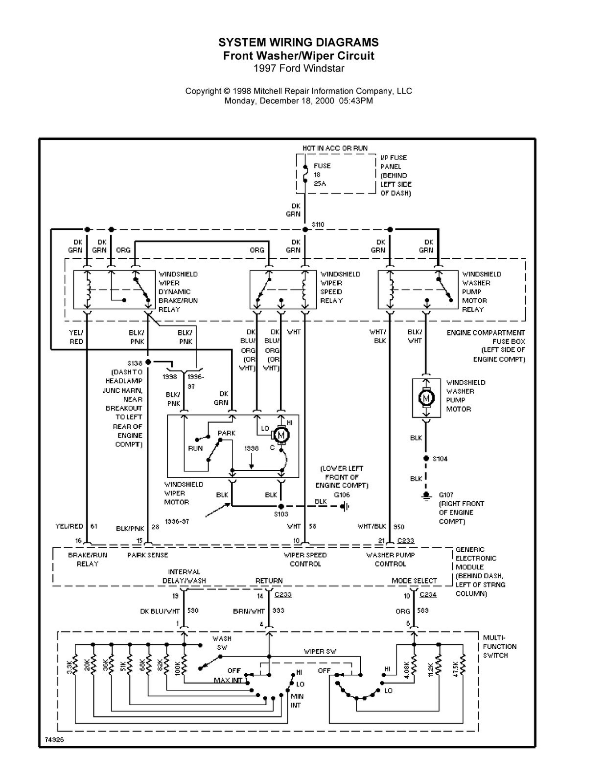 1999 windstar wiring diagram