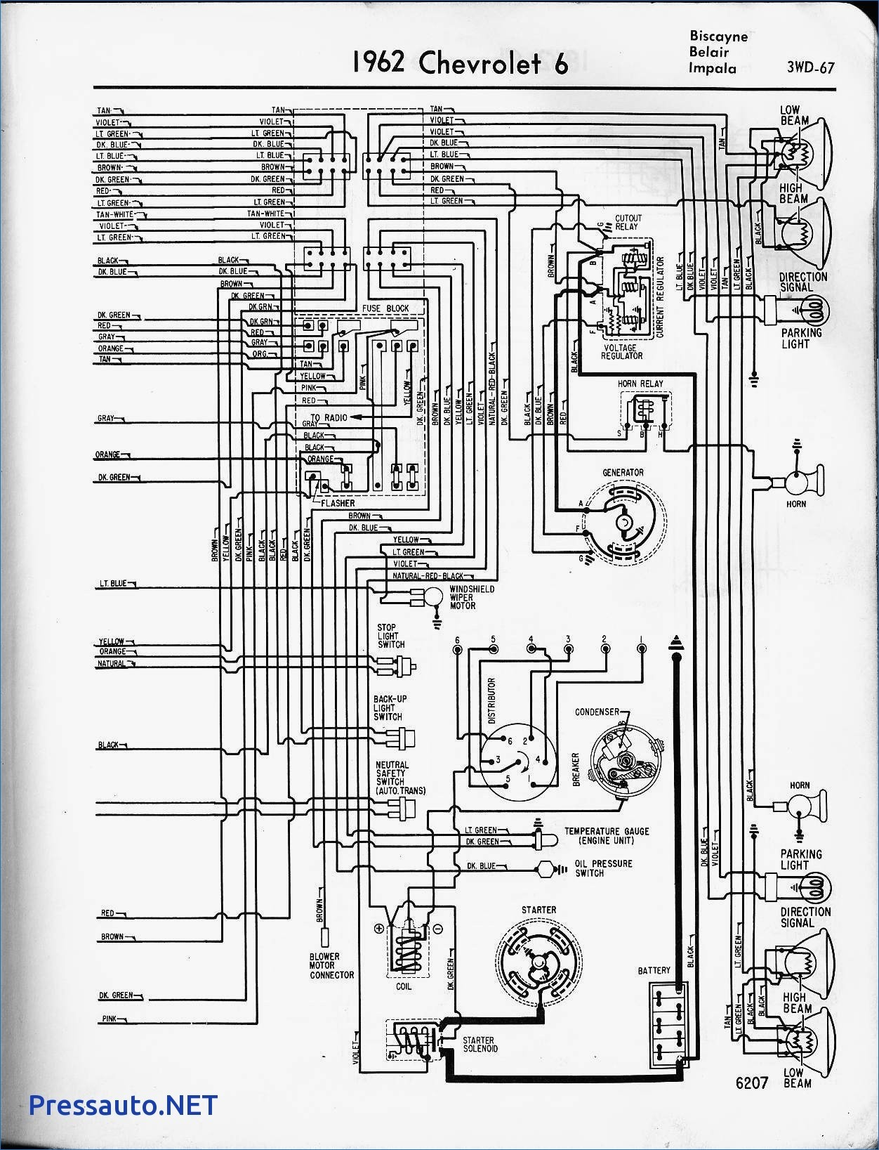 1961 Chevrolet Fuse Block Diagram | Wiring Diagram