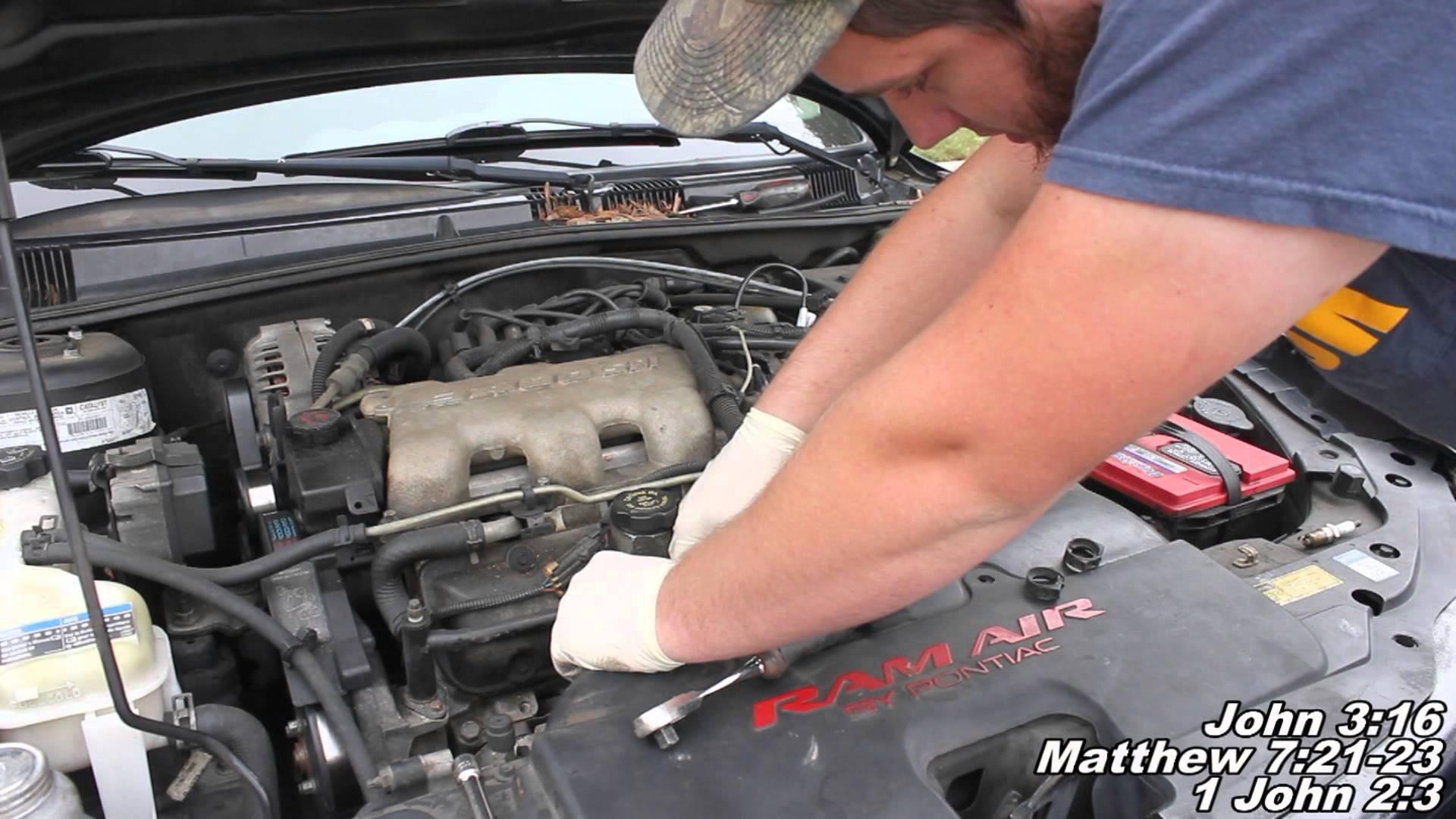 """2005 Pontiac Grand Prix Engine Diagram Spark Plug & Wires Remove & Replace  """"how to"""