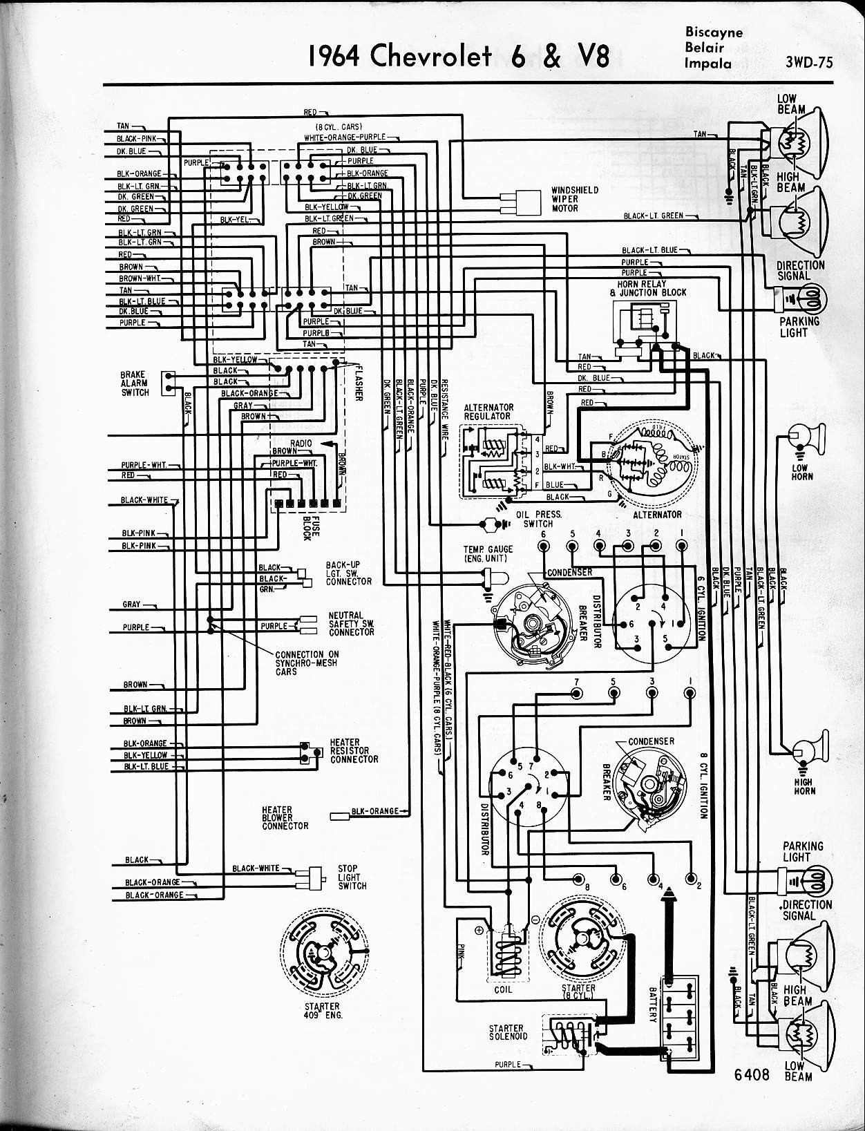 1960 Impala Wiring Diagram With Alternator - Example Electrical ...