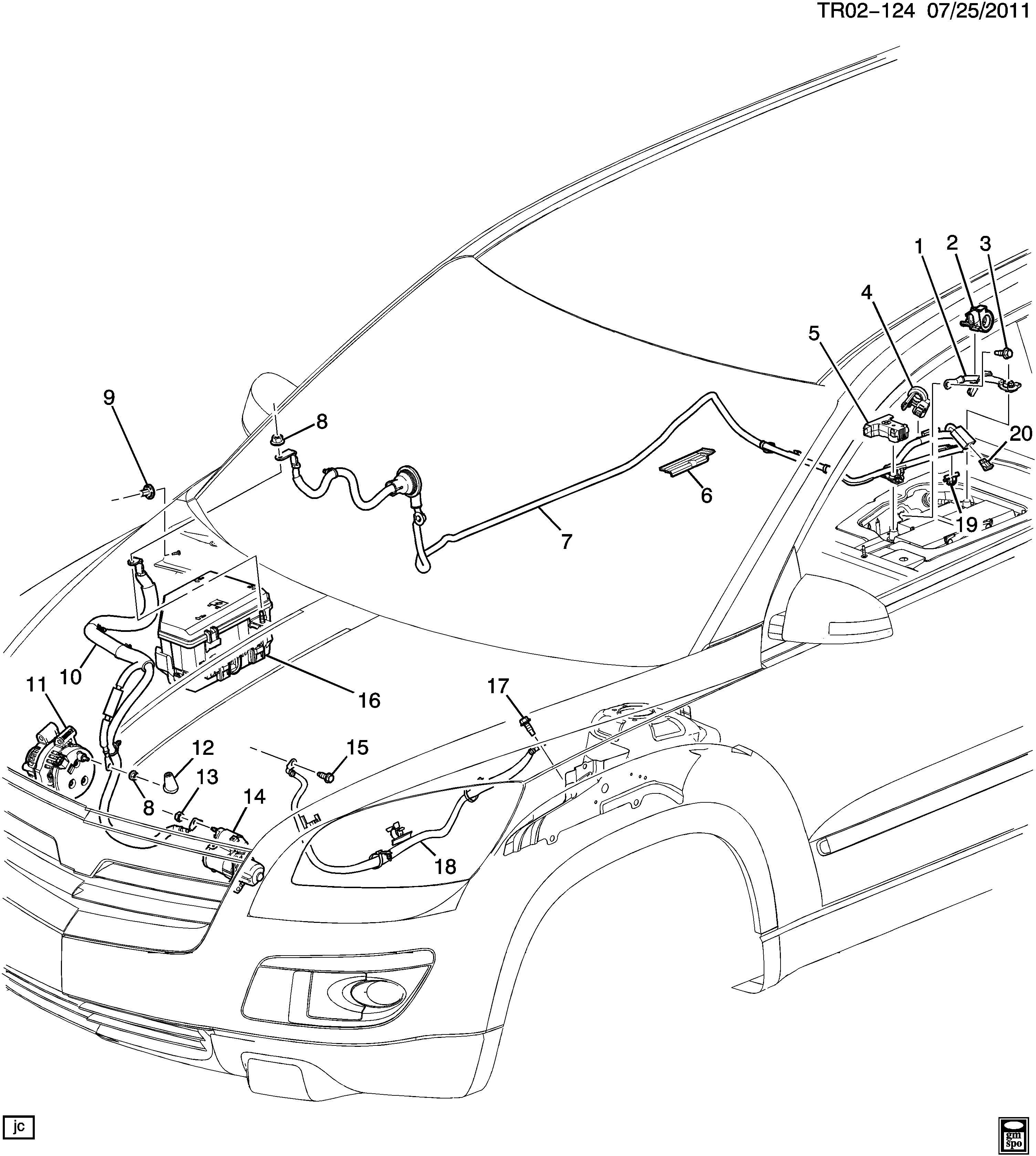 2009 Gmc Acadia Engine Diagram Chevrolet Traverse Buick Enclave Dead Battery Posts In Partment Forum Of
