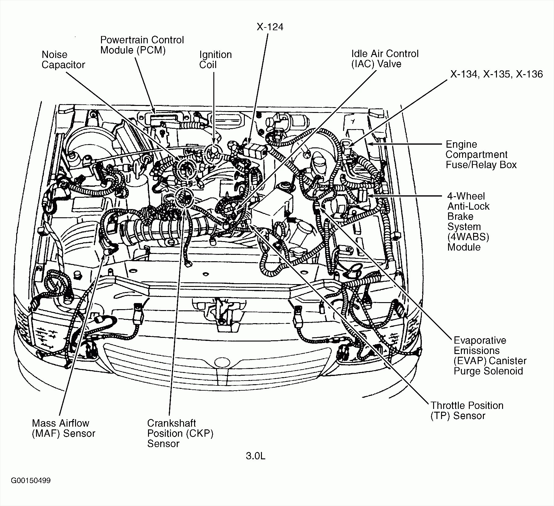 oldsmobile 3 8 engine diagram showing sensors