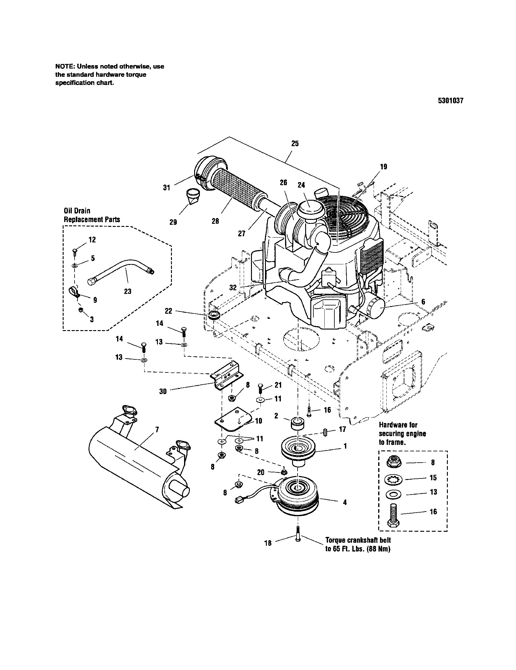 kohler engine parts diagram