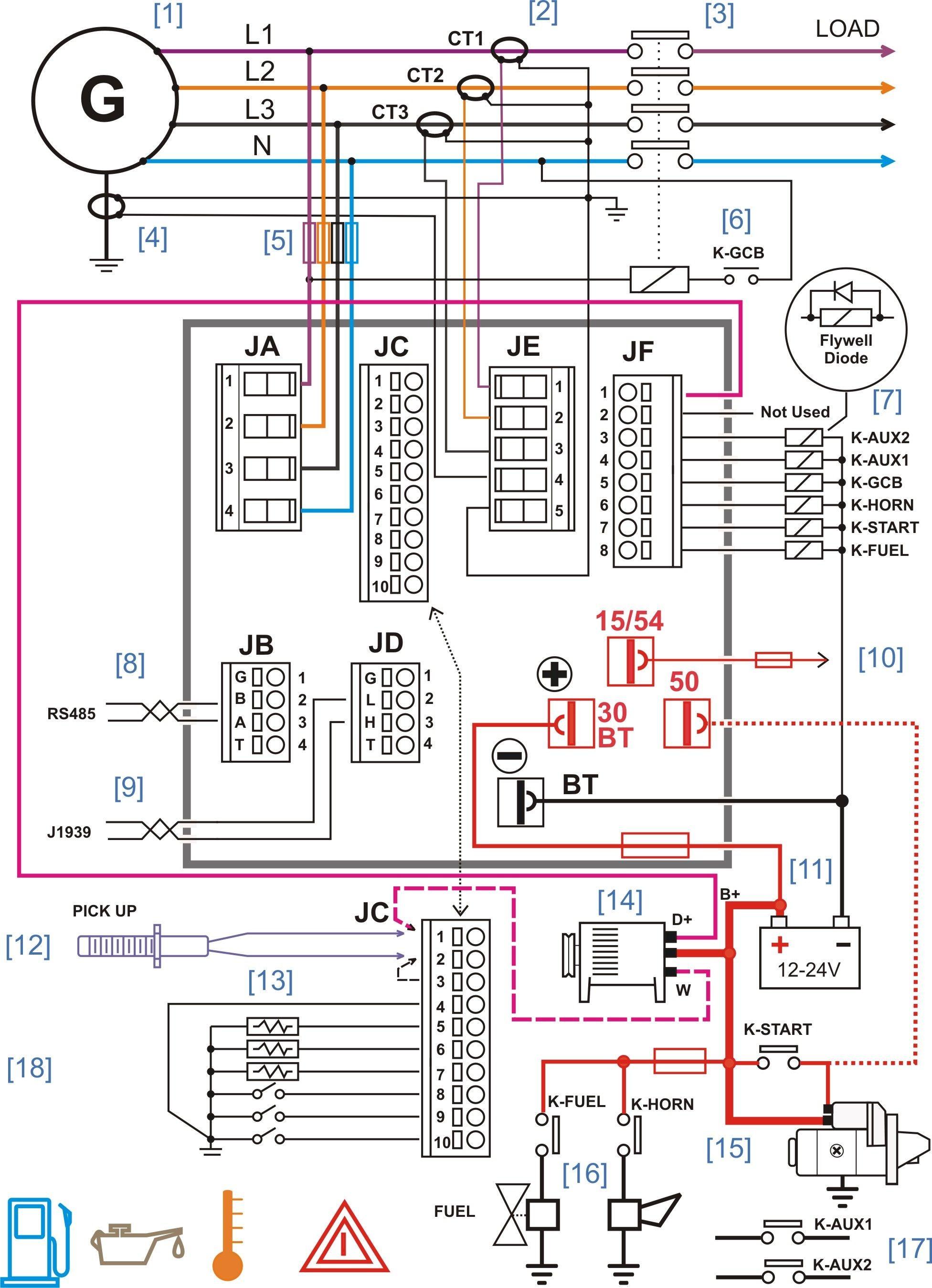 3 Phase Wire Diagram 4 Ceiling Fan Wiring Kuwaitigenius Panel Diesel Generator Control Of