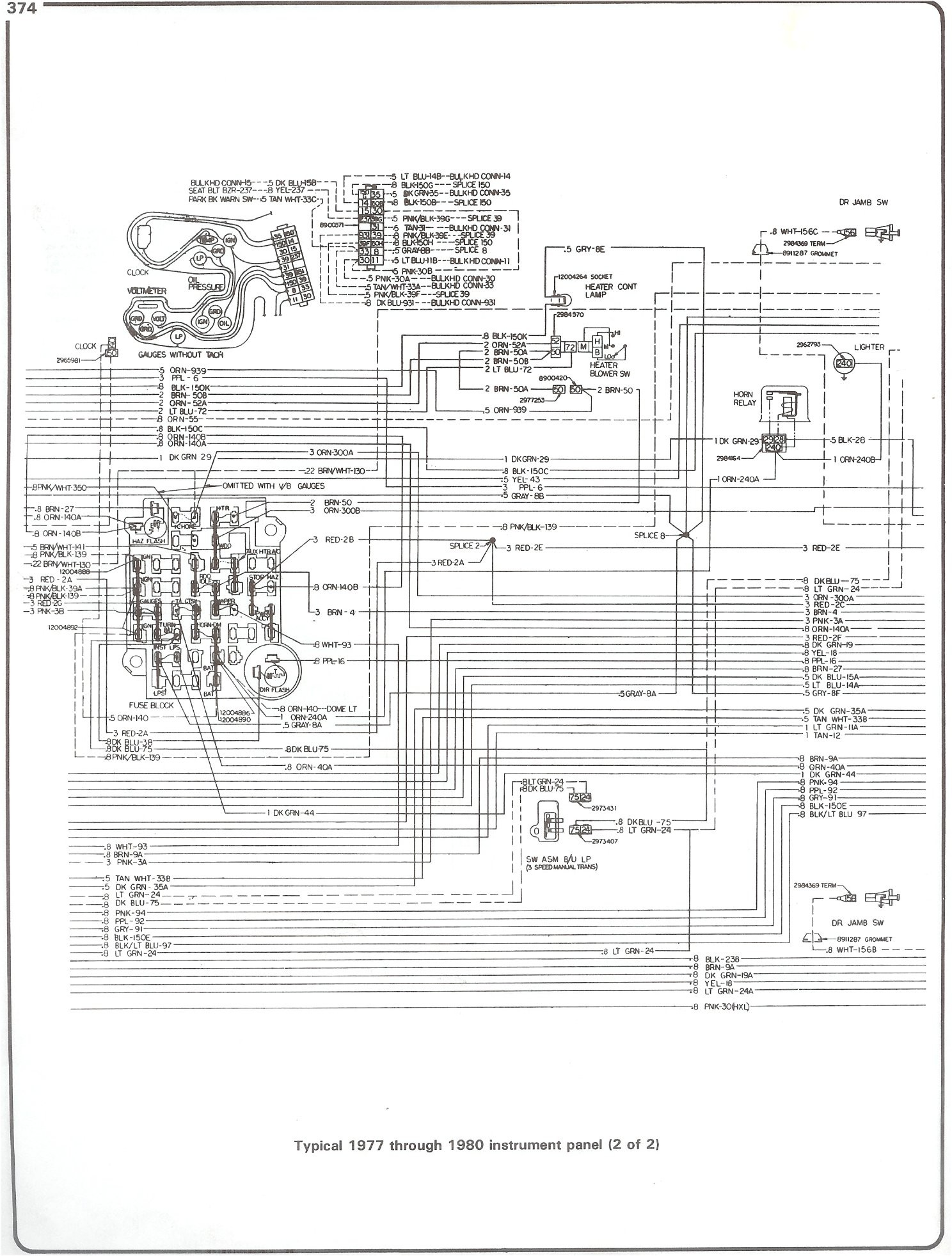 77 80 instrument pg2 with 78 chevy truck wiring diagram wiring diagram chevy  starter solenoid wiring