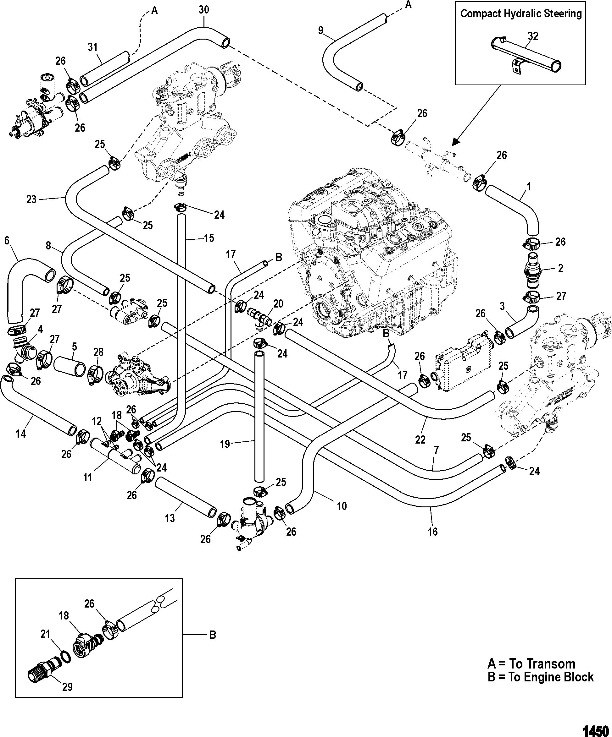 4 3 V6 Mercruiser Engine Diagram Standard Cooling System For Elegant Vortec Wiring Of