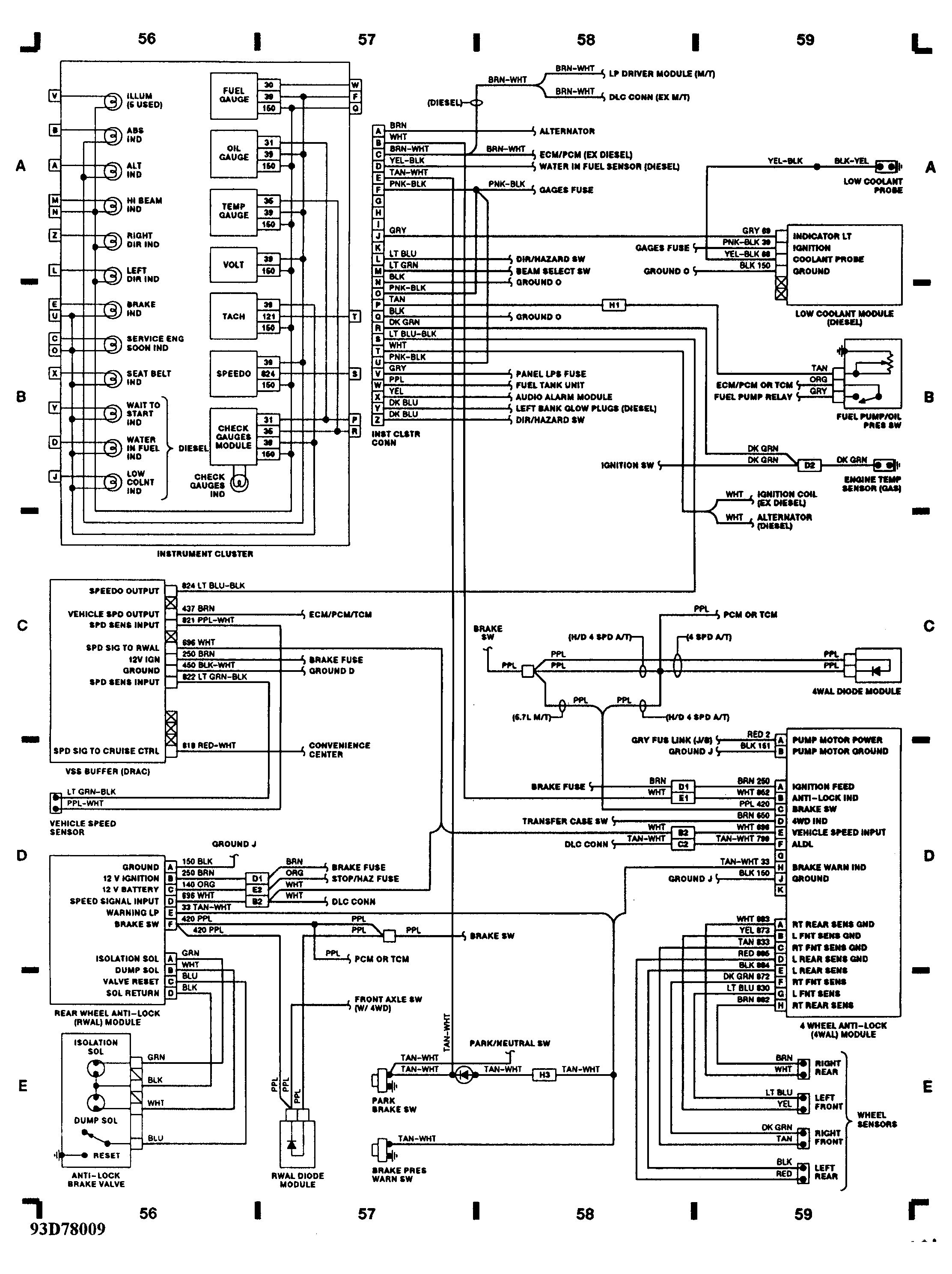 2004 buick rendezvous cxl wiring diagram block and schematic