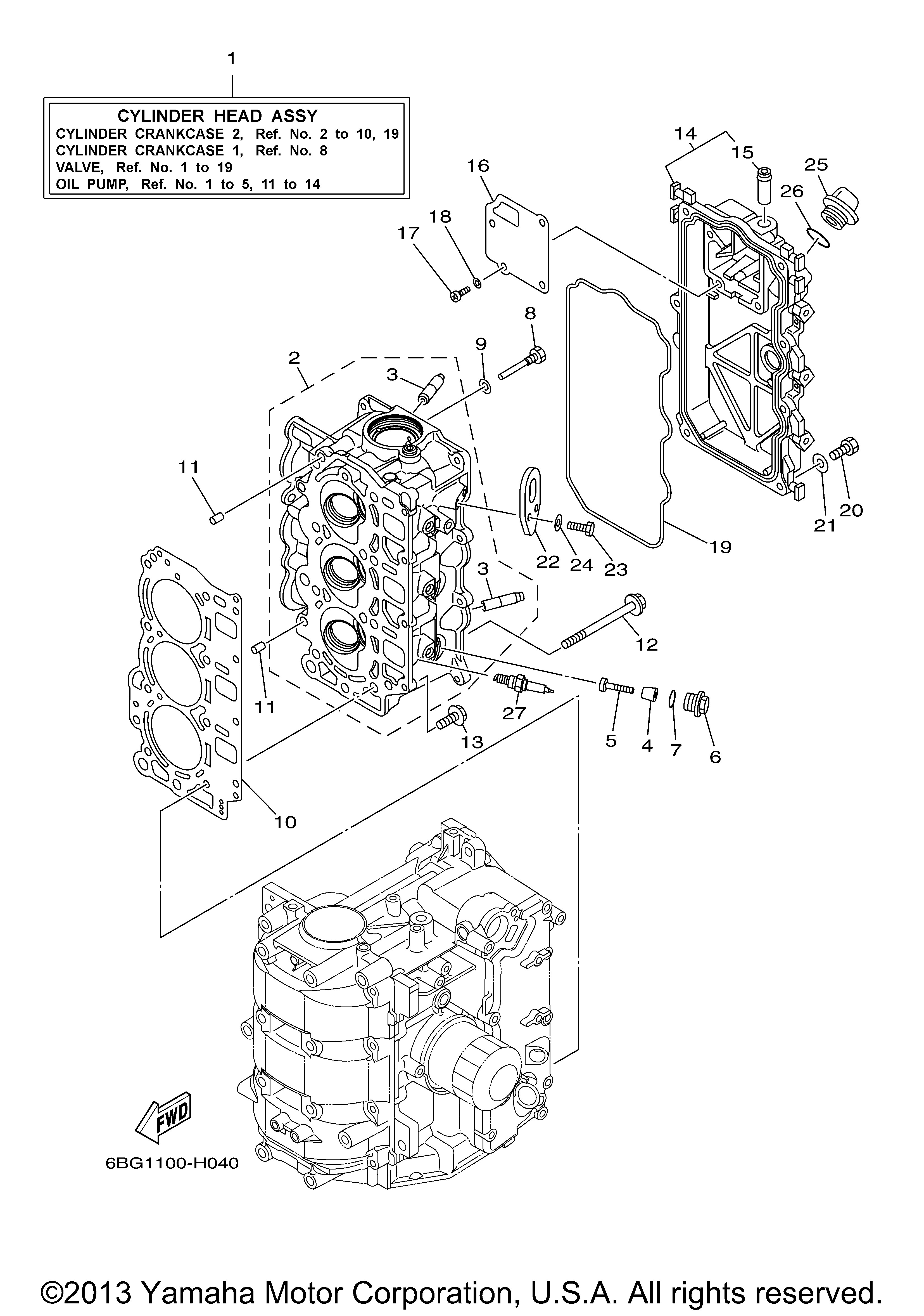 6 Cylinder Engine Diagram Yamaha Outboard 40 Hp F40la Of 6 Cylinder Engine Diagram