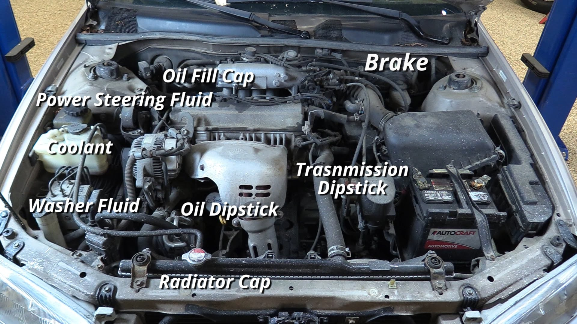 95 Toyota Camry Engine Diagram Wiring Library 2011 How To Check Your Fluids On A 1998 03
