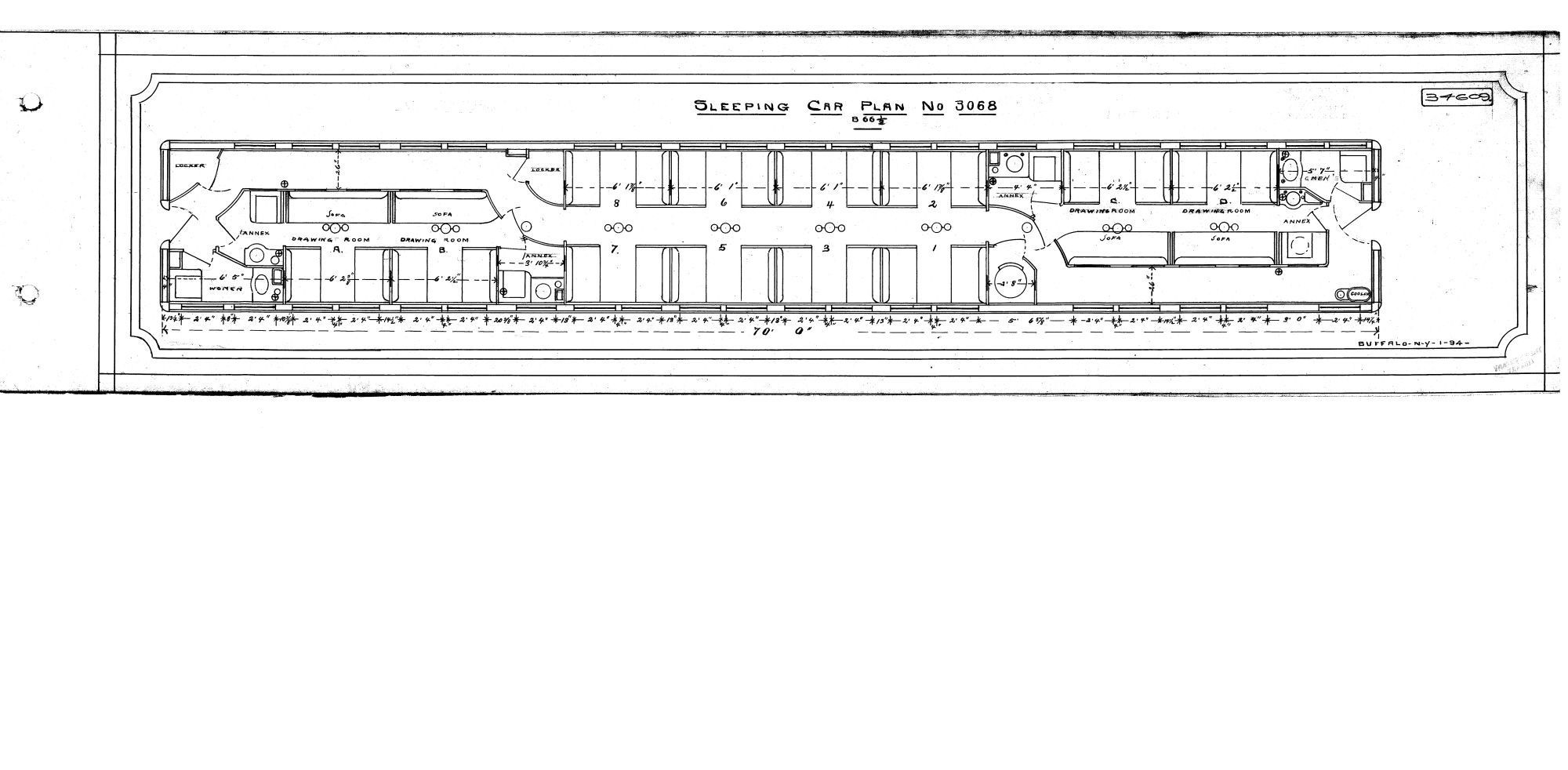 Amtrak Sleeping Car Diagrams