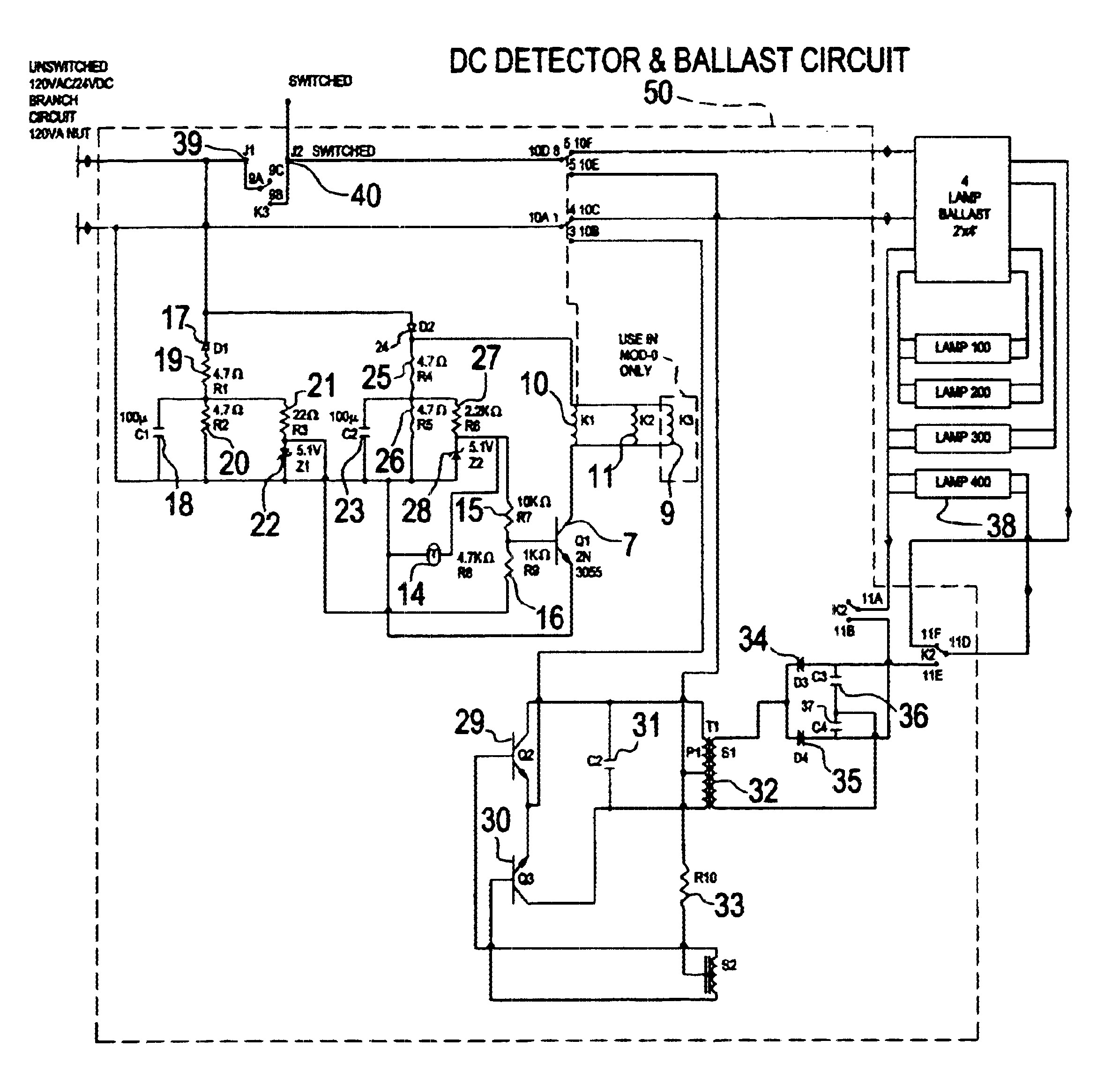 Old Bodine Wiring Diagram And Schematics Emergency Fluorescent Ballast B100