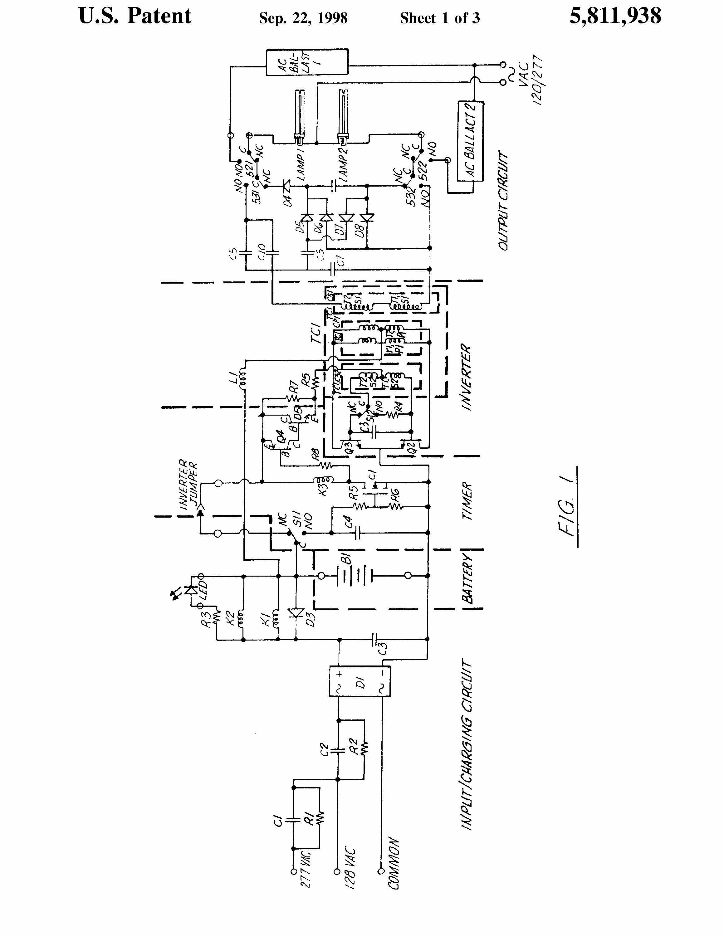 Bodine B100 Fluorescent Emergency Ballast Wiring Diagram
