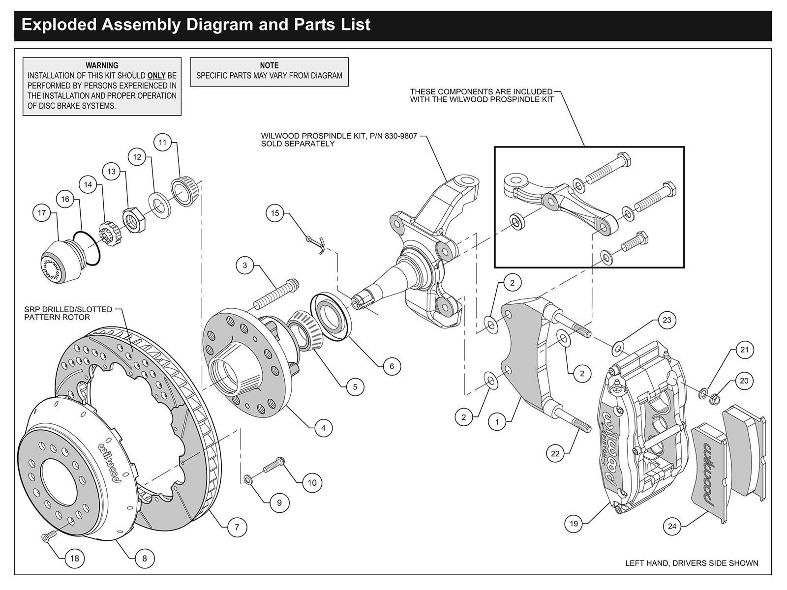 Brake Caliper Parts Diagram How to Install Wilwood Disc Brakes Hot Rod Network Of Brake Caliper Parts Diagram