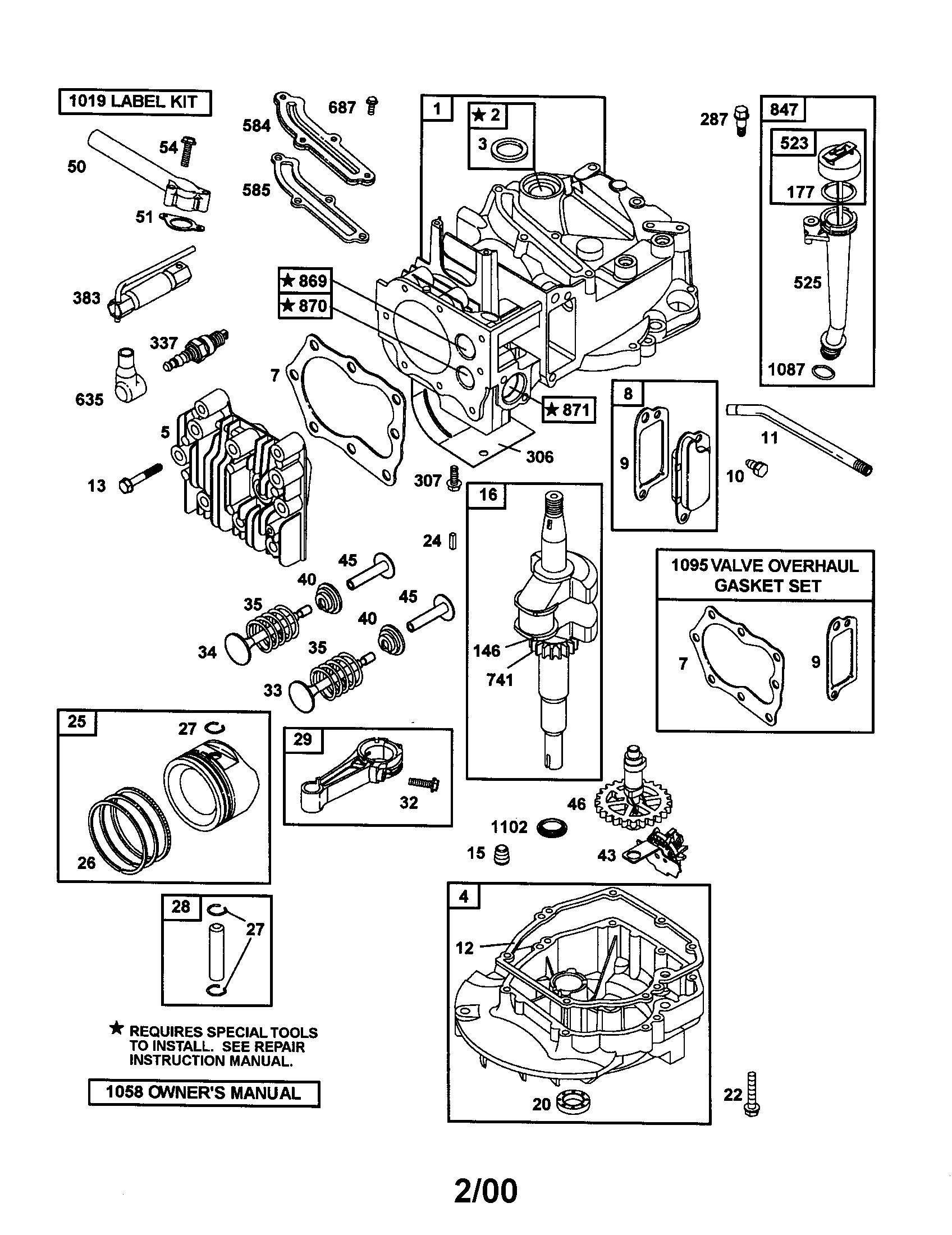 briggs engine parts diagram briggs stratton parts diagram