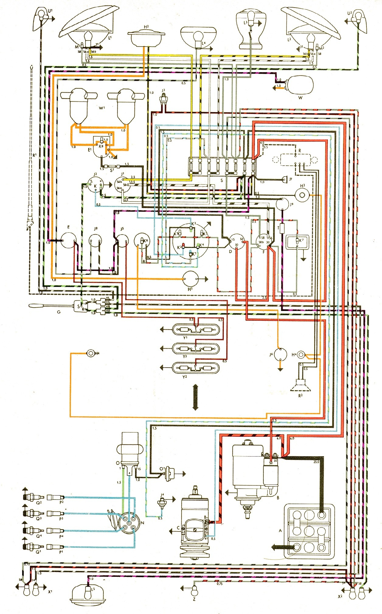 Bus Engine Diagram Vintagebus Vw Bus and Other Wiring Diagrams