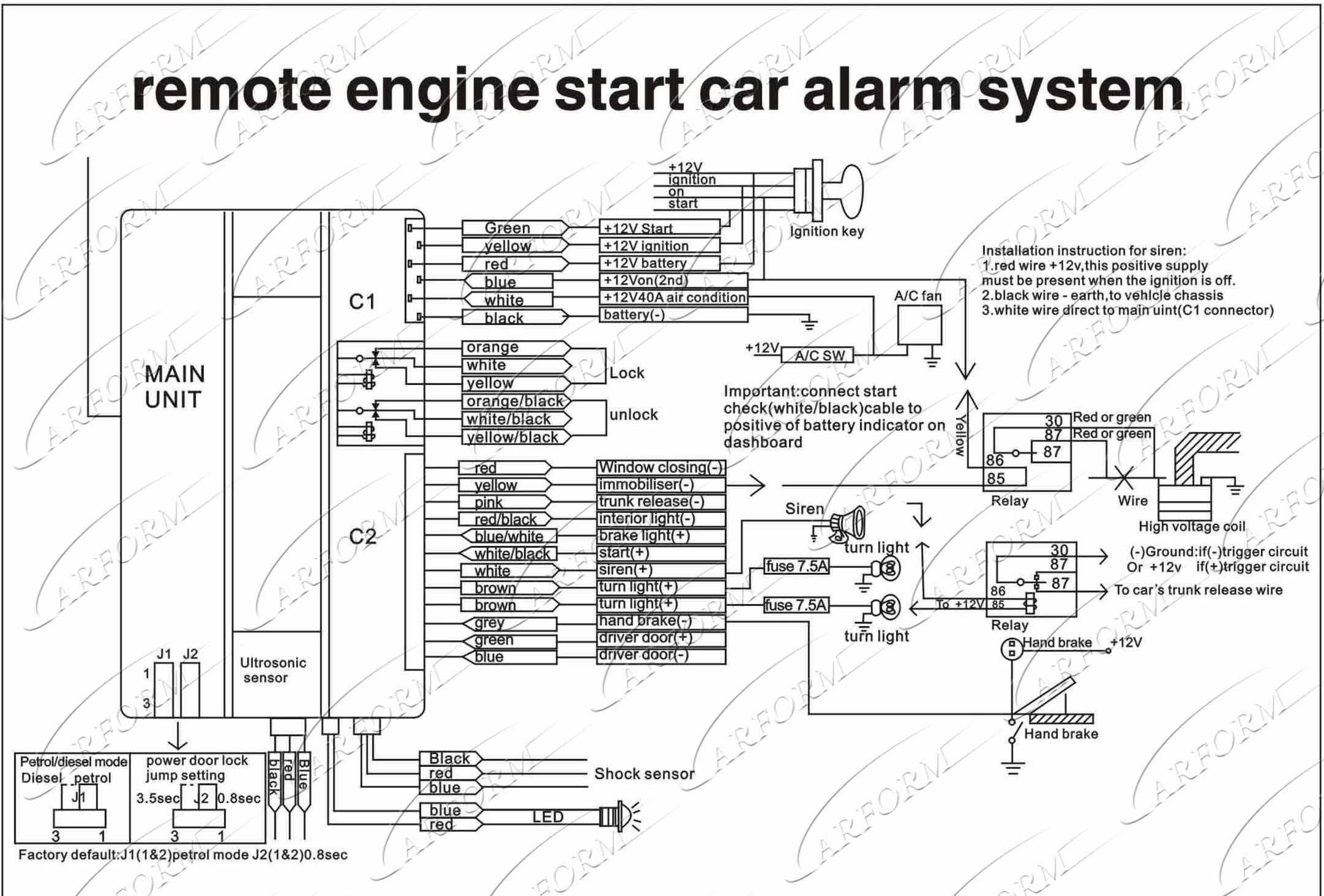 Car Alarm Wiring Diagram Install Security Car Alarm Wiring Diagram System Step Plan attack In Of Car Alarm Wiring Diagram