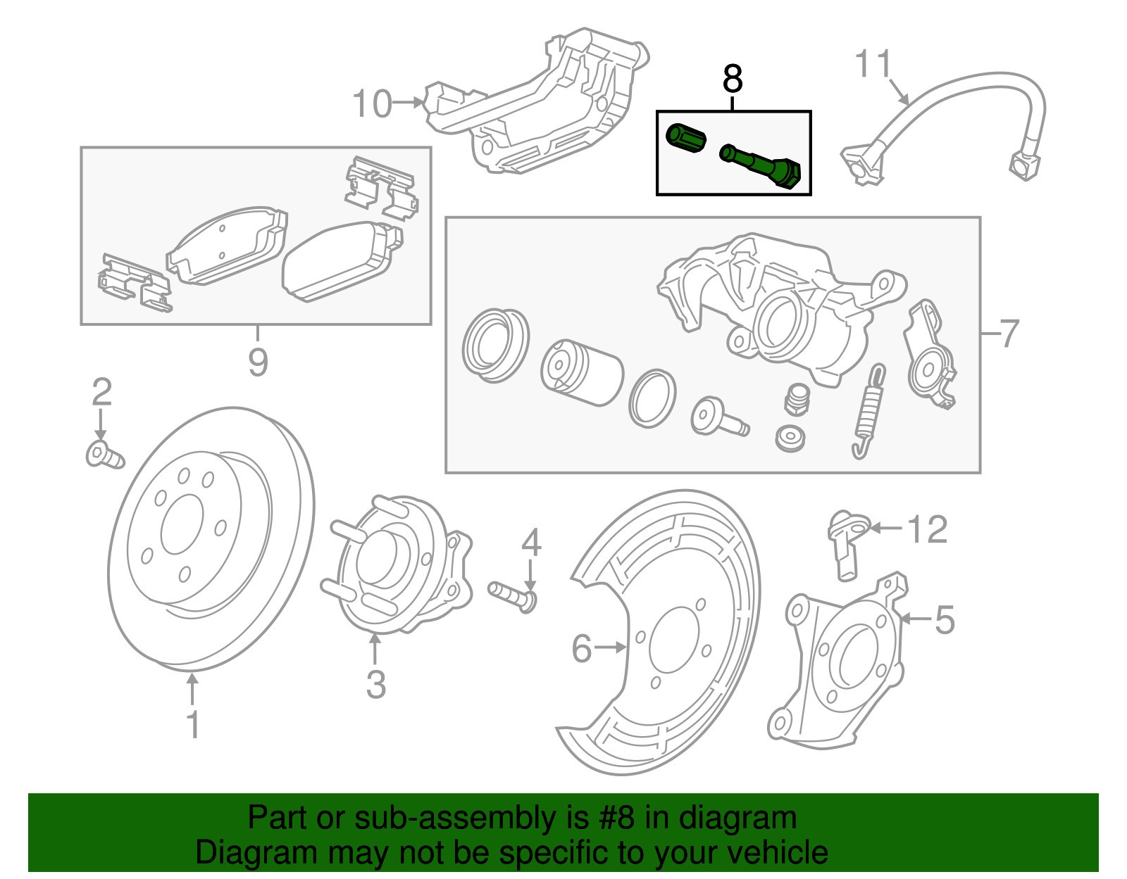 Car assembly Line Diagram Genuine Gm Caliper assembly Mount Bolt Of Car assembly Line Diagram