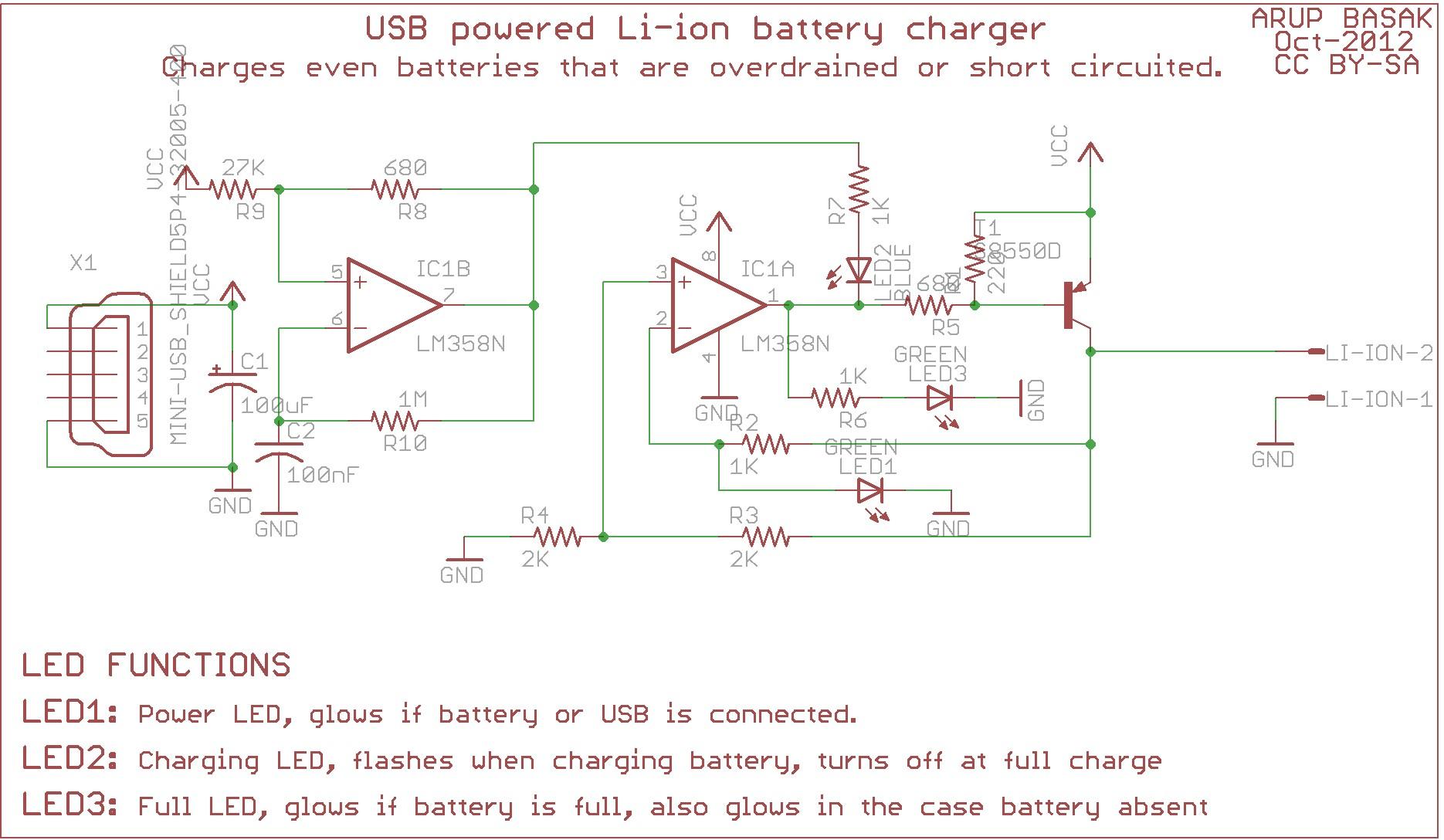 Car Battery Charger Circuit Diagram Usb Li Ion Charger Revision – Circuits Diy Of Car Battery Charger Circuit Diagram
