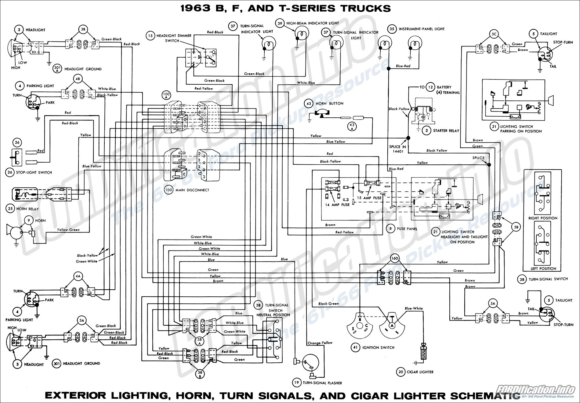 Car Cigarette Lighter Wiring Diagram 1963 ford Truck Wiring Diagrams  fordificationfo the 61 66 Of Car