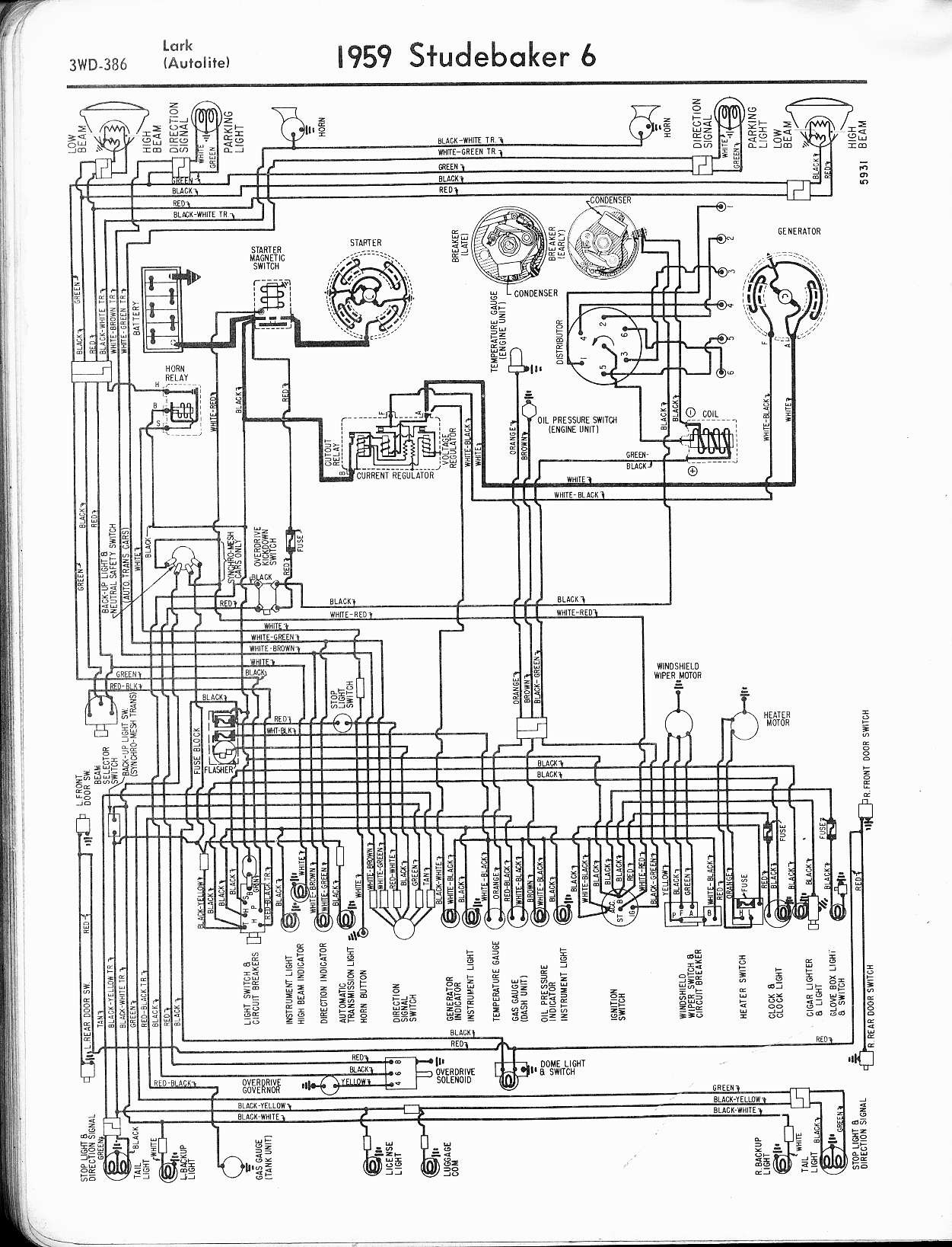 Car Electrical System Diagram Automotive Wire Wiring Studebaker Technical Help Studebakerparts Of