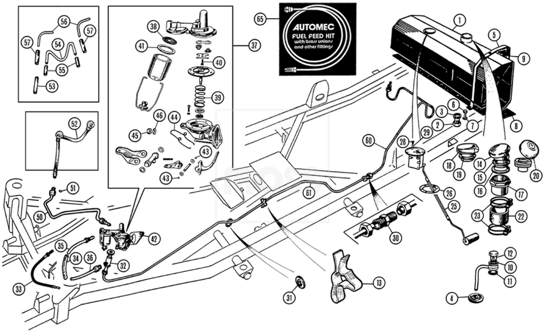 car fuel tank diagram