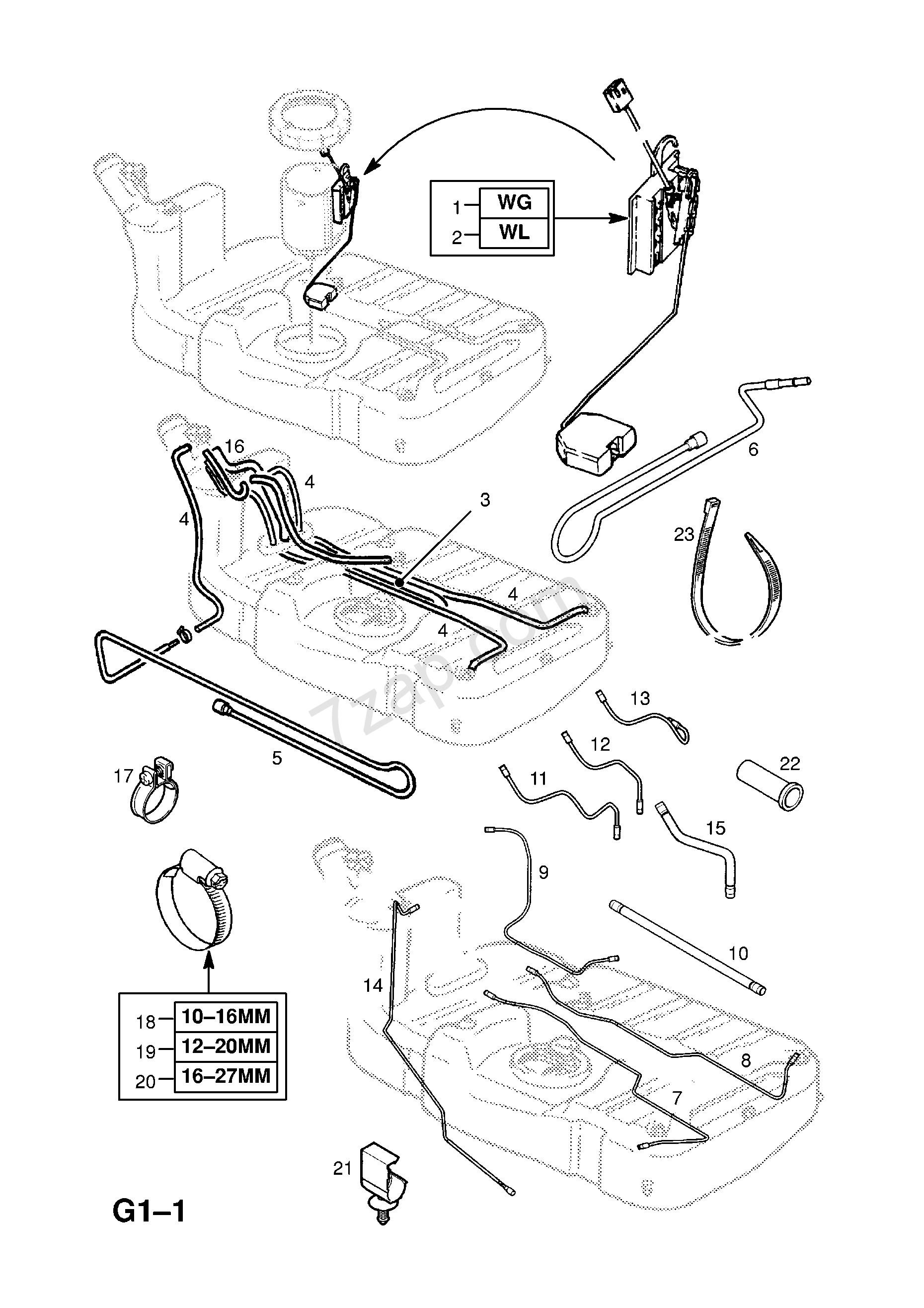 Car Fuel Tank Diagram