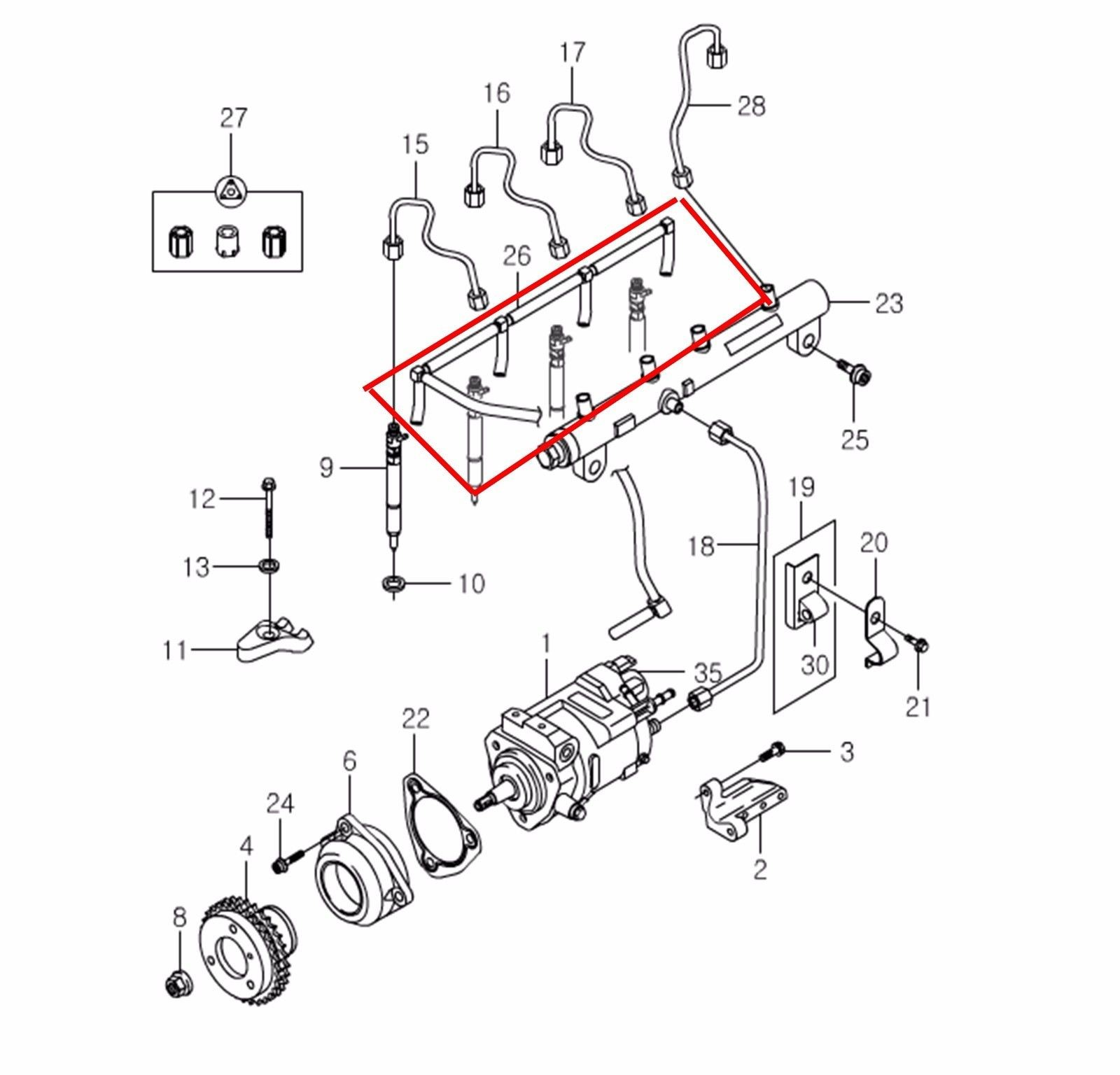 Car Fuel Tank Diagram Oem Fuel Return Tube Hose Ssangyong Actyon Sports Kyron D20 2 0xdi Of Car Fuel Tank Diagram
