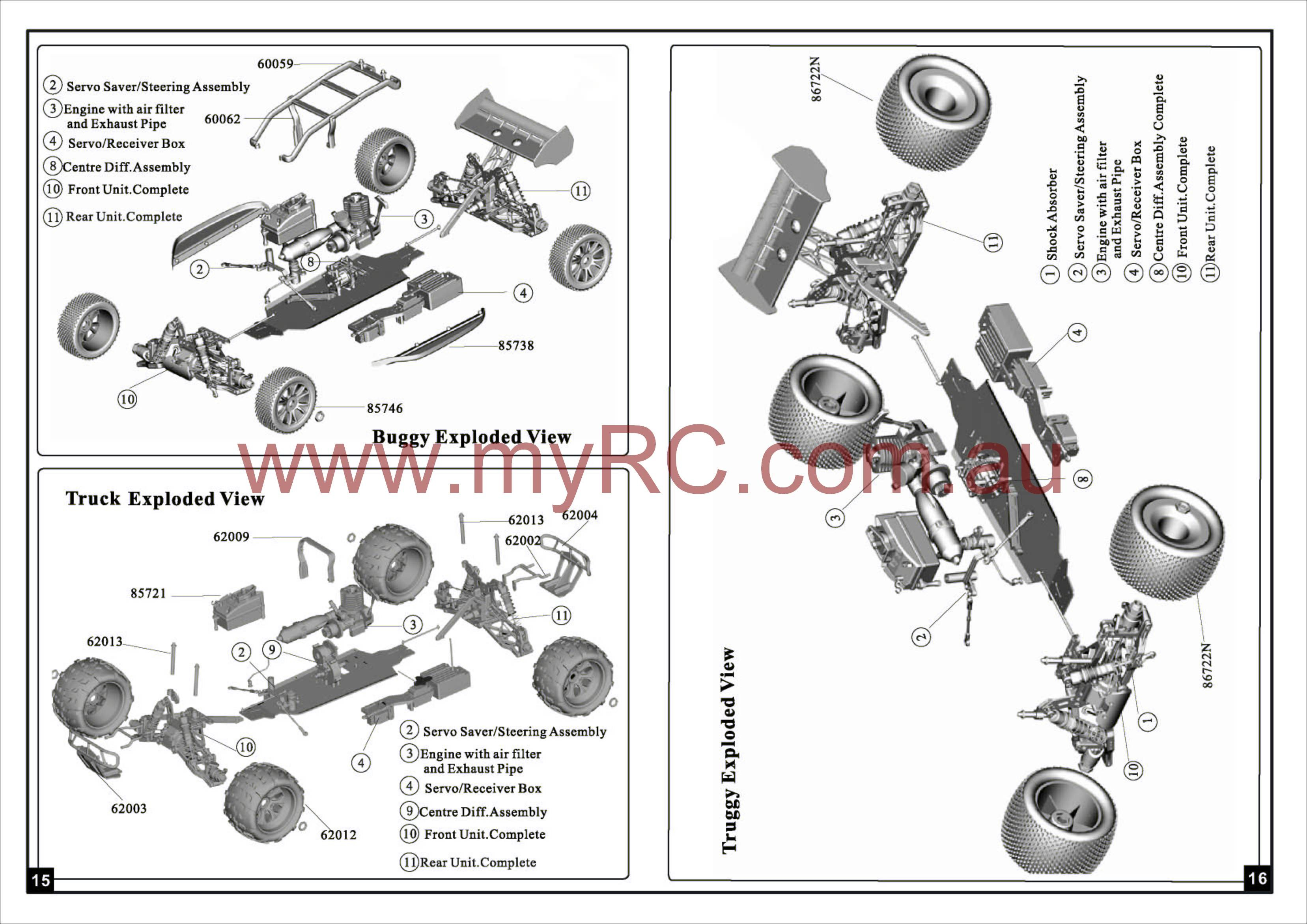 Car Parts List Diagram Hsp 1 8n Road Car User Manual Free Download Myrc Of Car Parts List Diagram